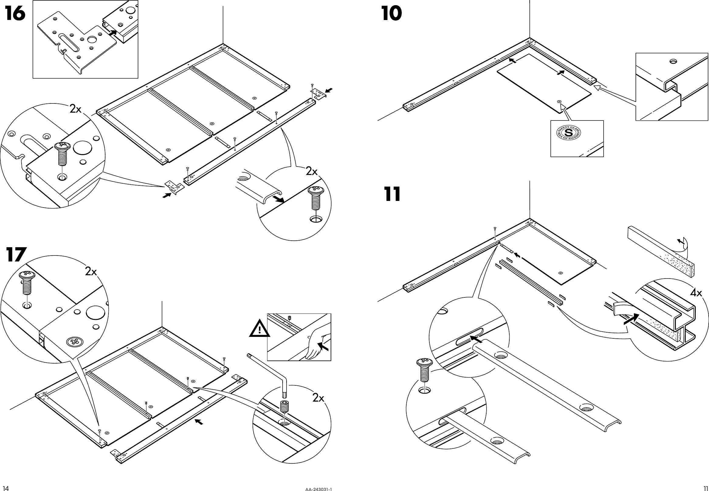 Ikea Pax Stordal Sliding Door Pair 98x93 Assembly Instruction