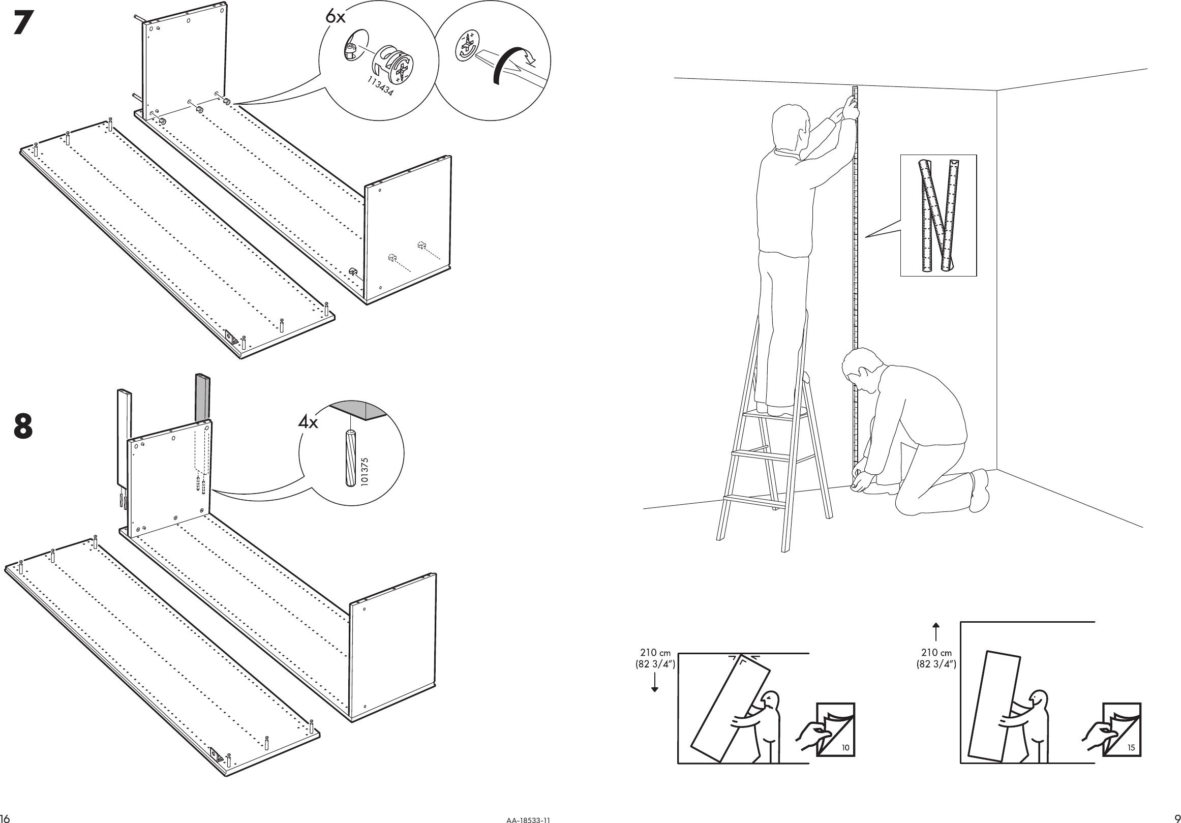 Ikea Pax Wardrobe Frame 30X23X79 Assembly Instruction