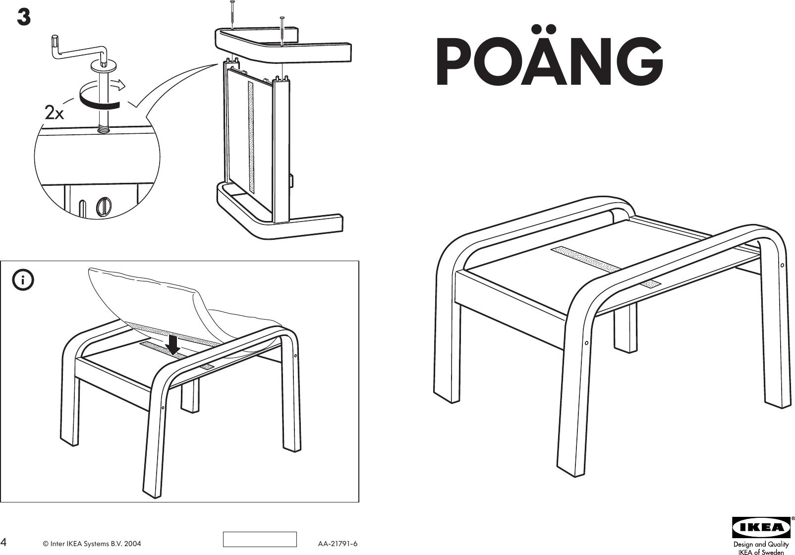 Tremendous Ikea Poang Footstool Frame Assembly Instruction Ibusinesslaw Wood Chair Design Ideas Ibusinesslaworg