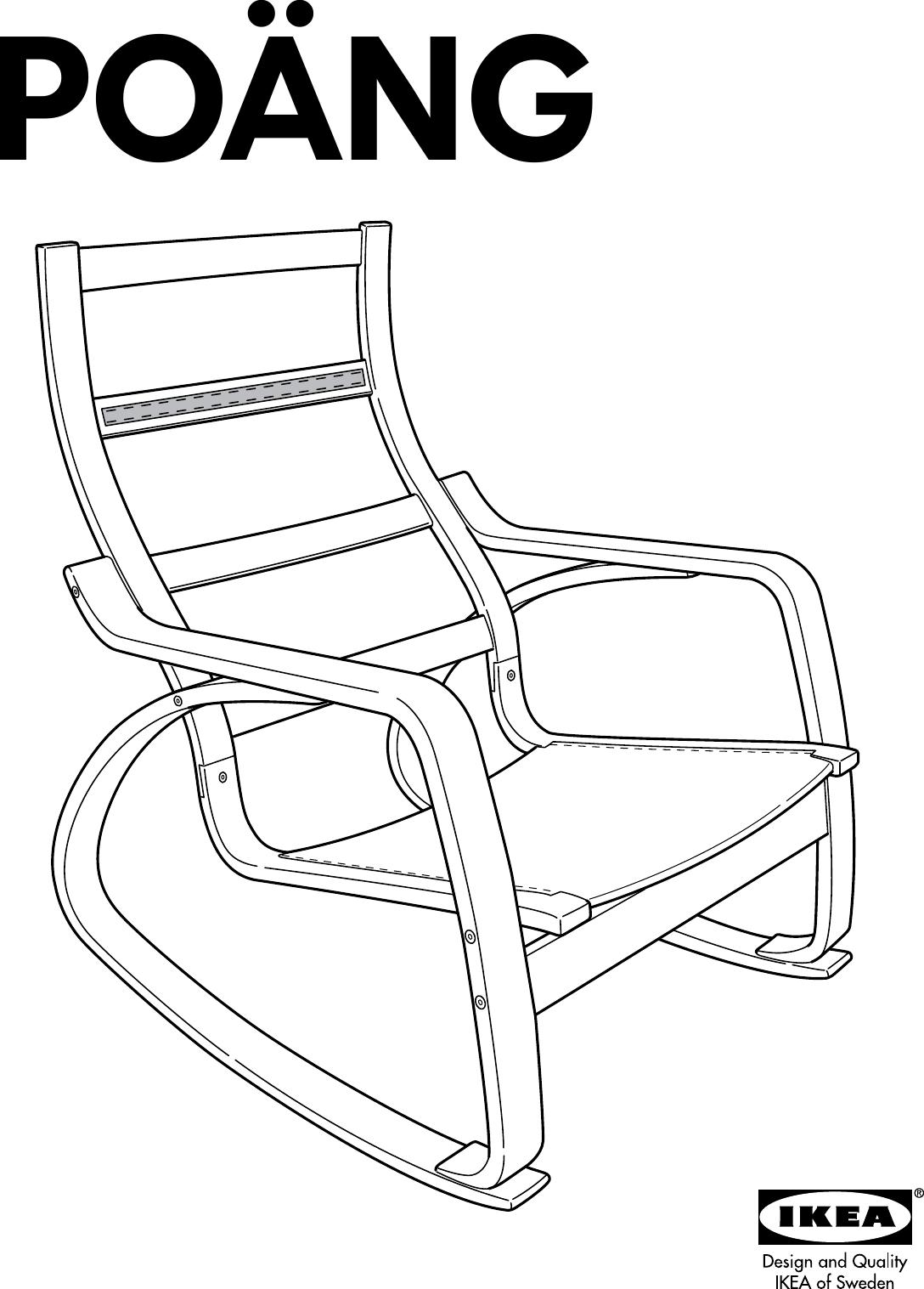 Surprising Ikea Poang Rocking Chair Frame Assembly Instruction Spiritservingveterans Wood Chair Design Ideas Spiritservingveteransorg