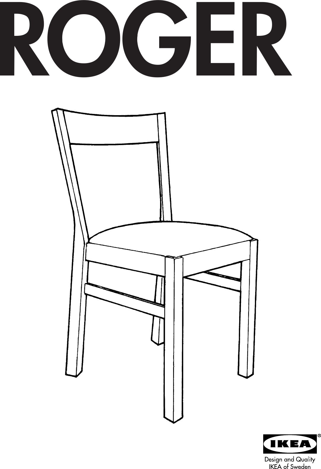 sc 1 st  UserManual.wiki & Ikea Roger Chair Assembly Instruction