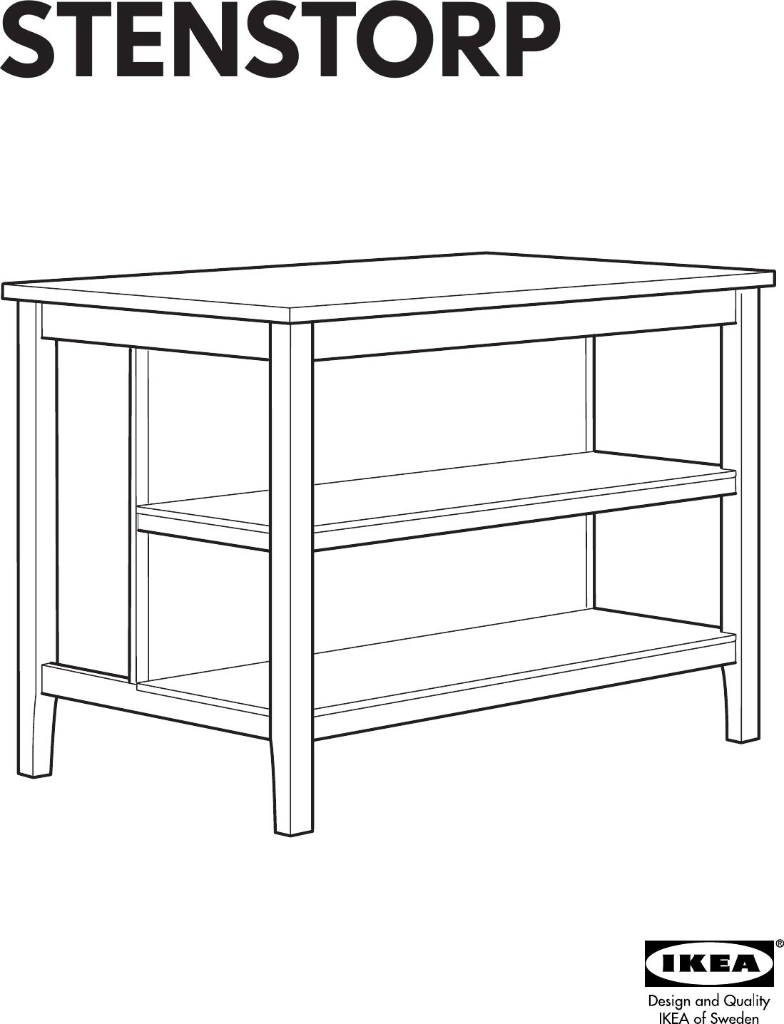 Ikea Stenstorp Kitchen Island 50X31 Assembly Instruction