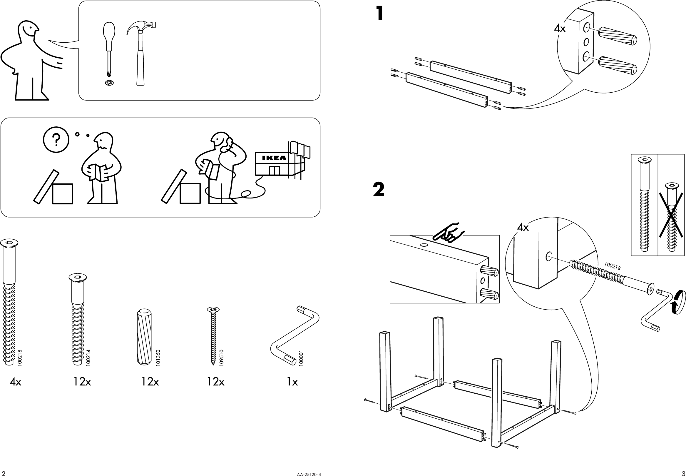 Page 2 of 2 - Ikea Ikea-Svala-Children-S-Table-W-2-Chairs-Assembly-Instruction
