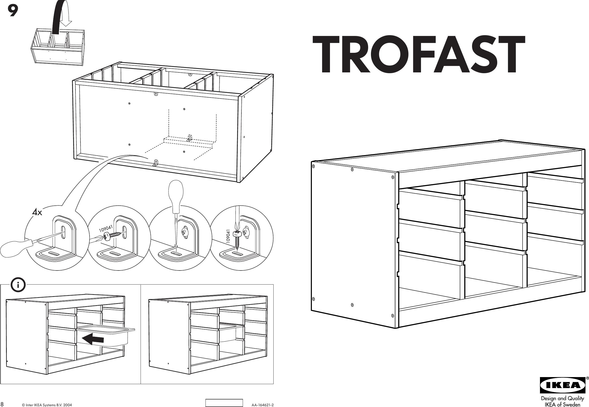Ikea Trofast Frame 37X20 1 2 Assembly Instruction