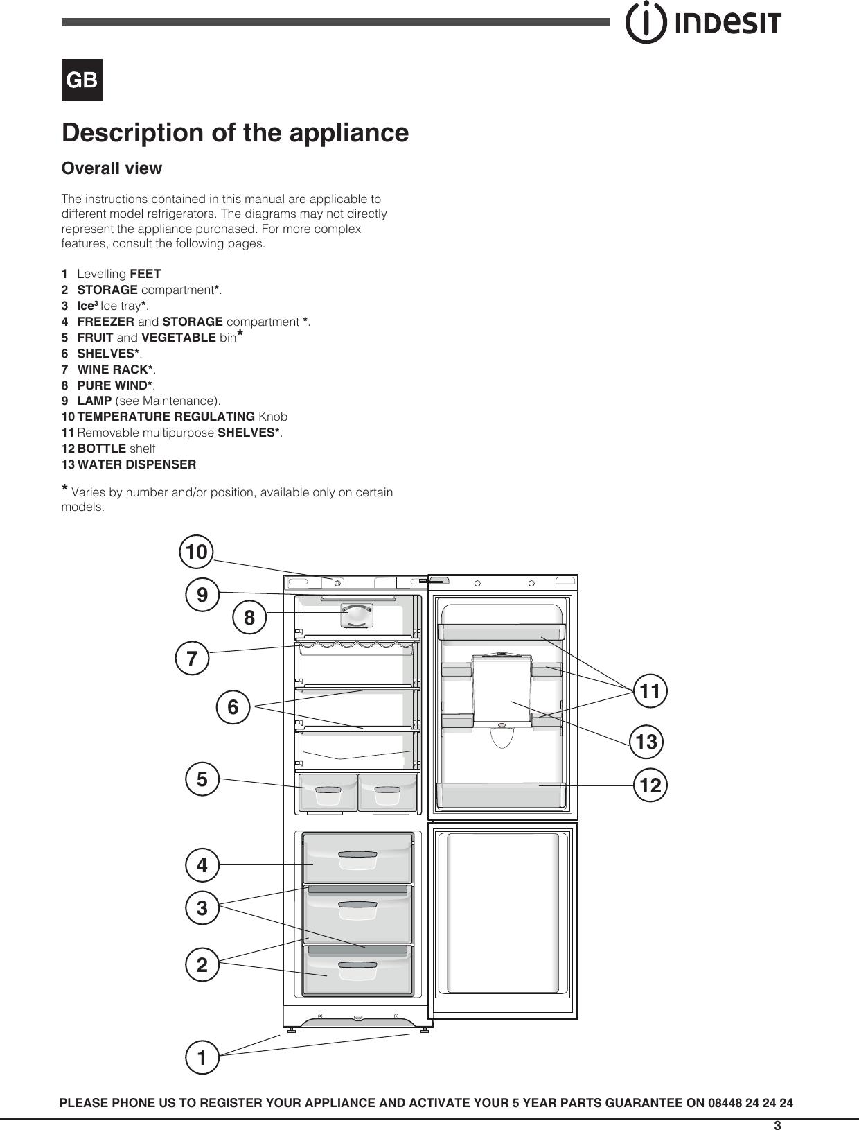 Indesit Biaa13Wd Uk Operating Instructions