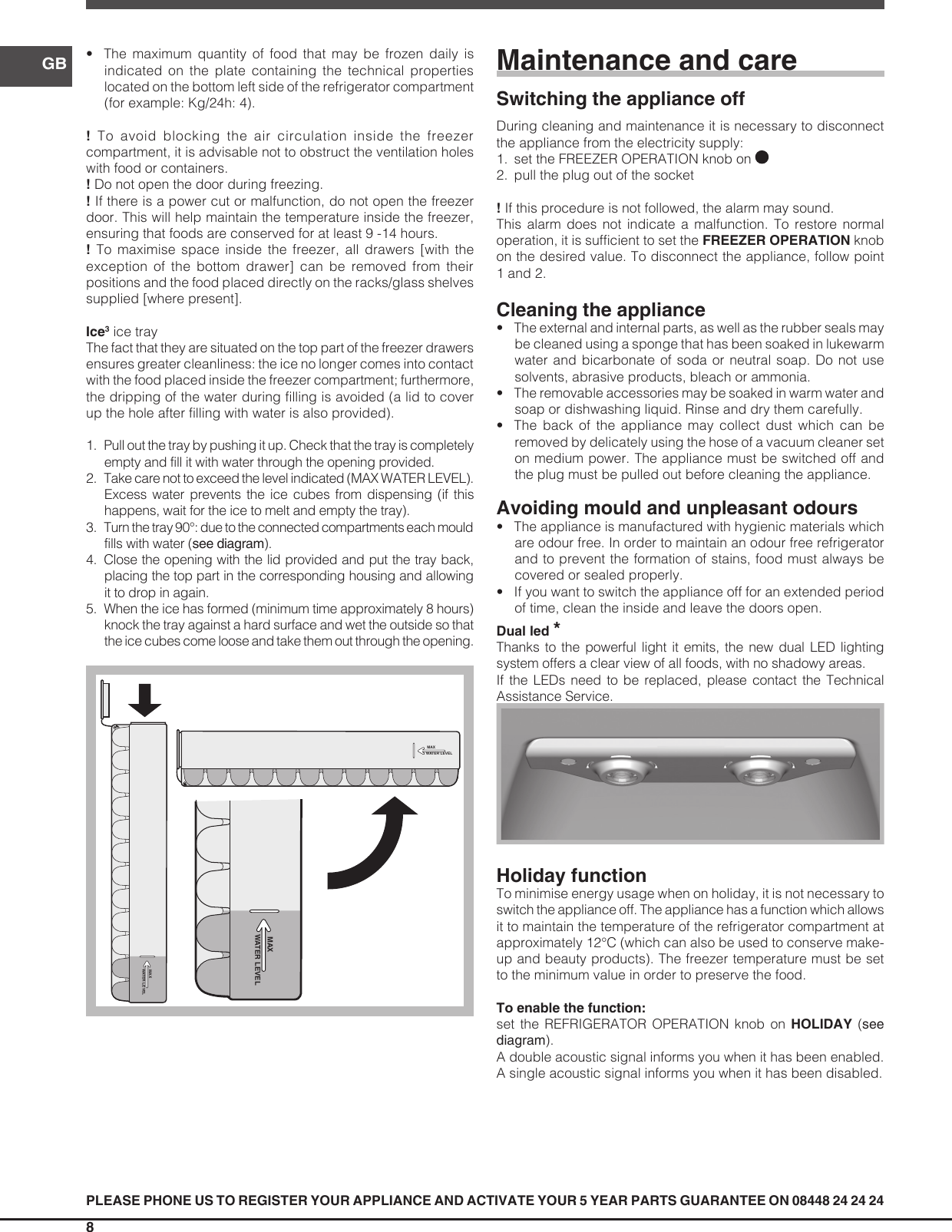 page 8 of 12 - indesit indesit-dbiaa344f-uk-operating-instructions-