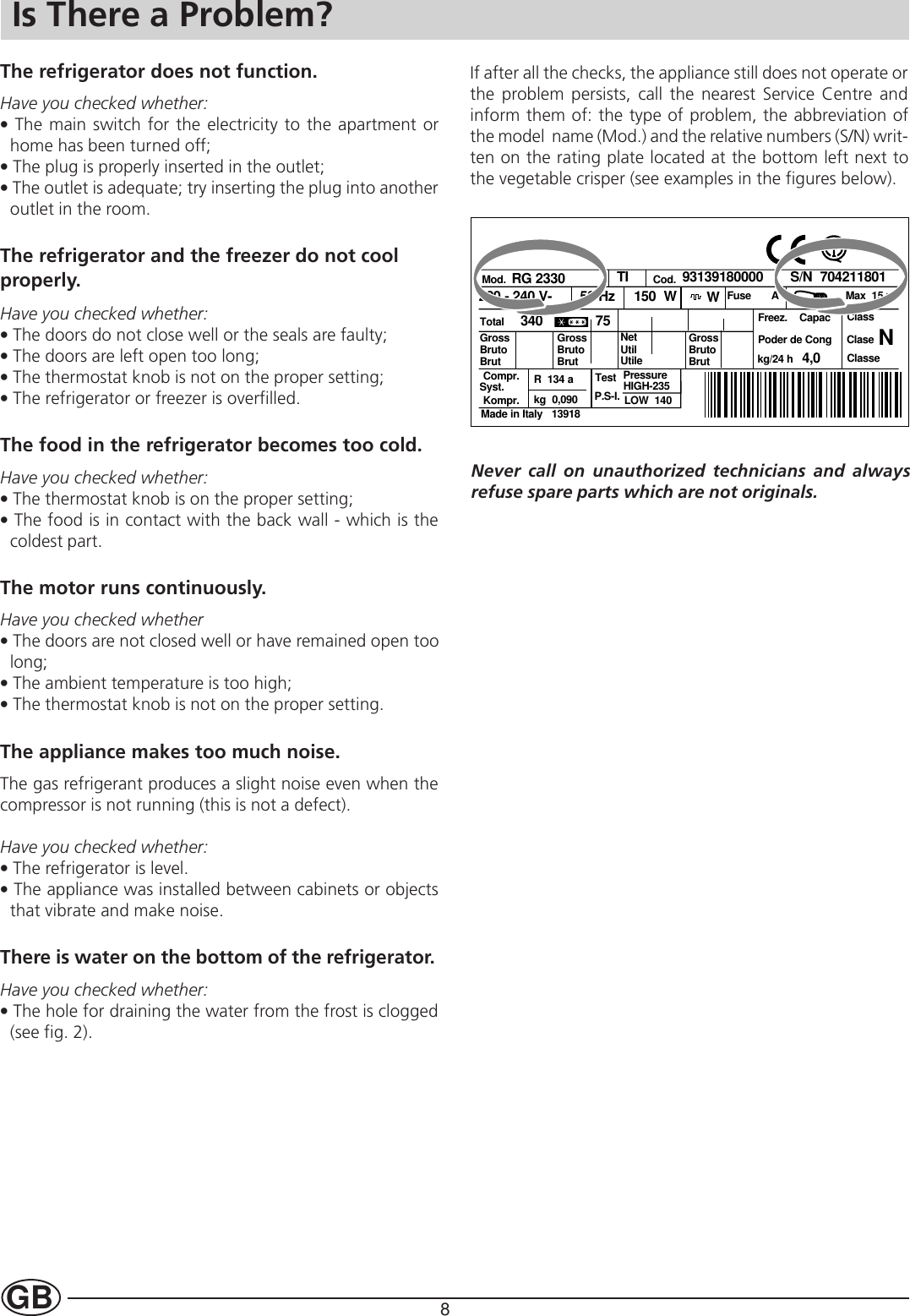 Indesit In C 3100 Instructions For Installation And Use 31718cop