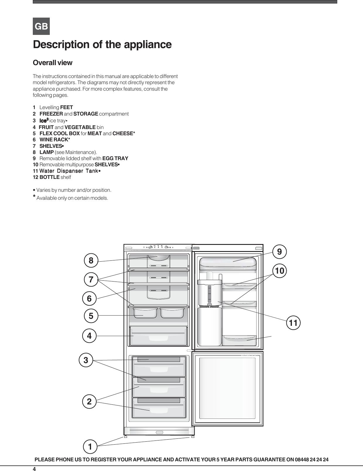 Indesit refrigerator ban 40 users manual 19508693000gb tr page 4 of 12 indesit indesit refrigerator ban 40 users cheapraybanclubmaster Images