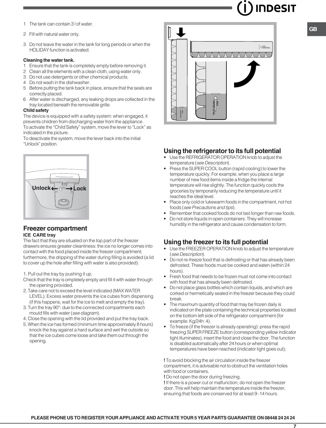 Indesit refrigerator ban 40 users manual 19508693000gb tr page 7 of 12 indesit indesit refrigerator ban 40 users cheapraybanclubmaster Images