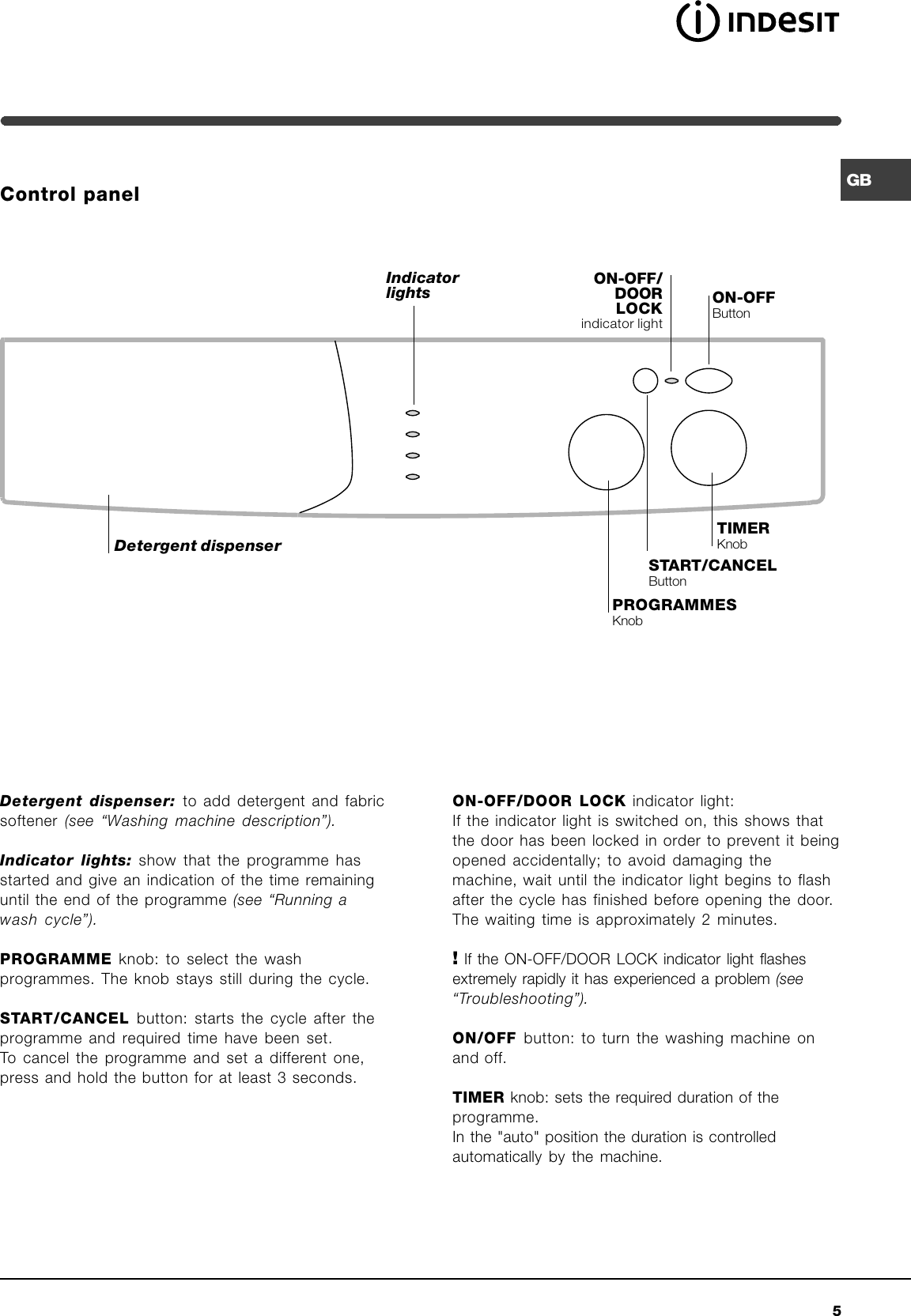 Indesit washing machine symbols image collections symbol and indesit washing machine wixl 1200 ot instruction manual gbwixl page 5 of indesit indesit washing machine fandeluxe Choice Image