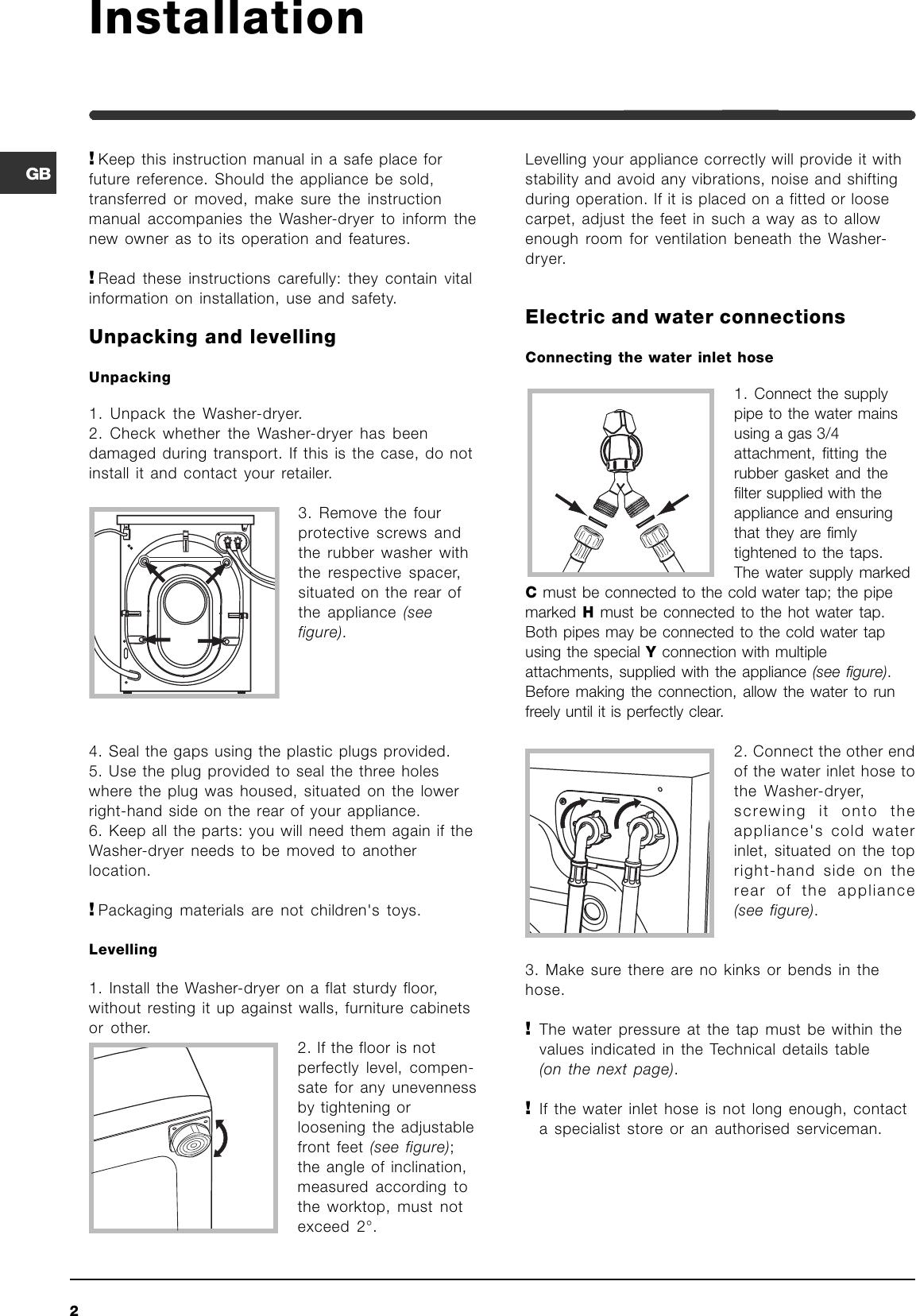 Indesit WIDL 106 Merloni User Manual To The Ca656e21 ec88 4114 ...