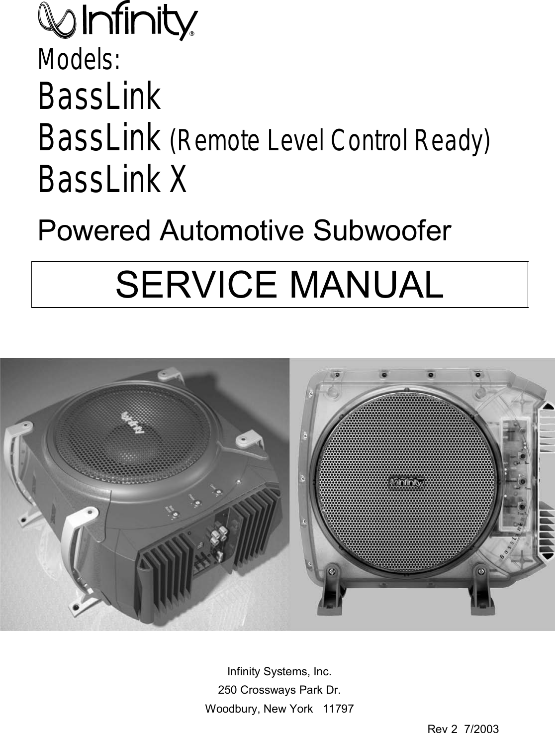 Infinity Basslink Manual Guide