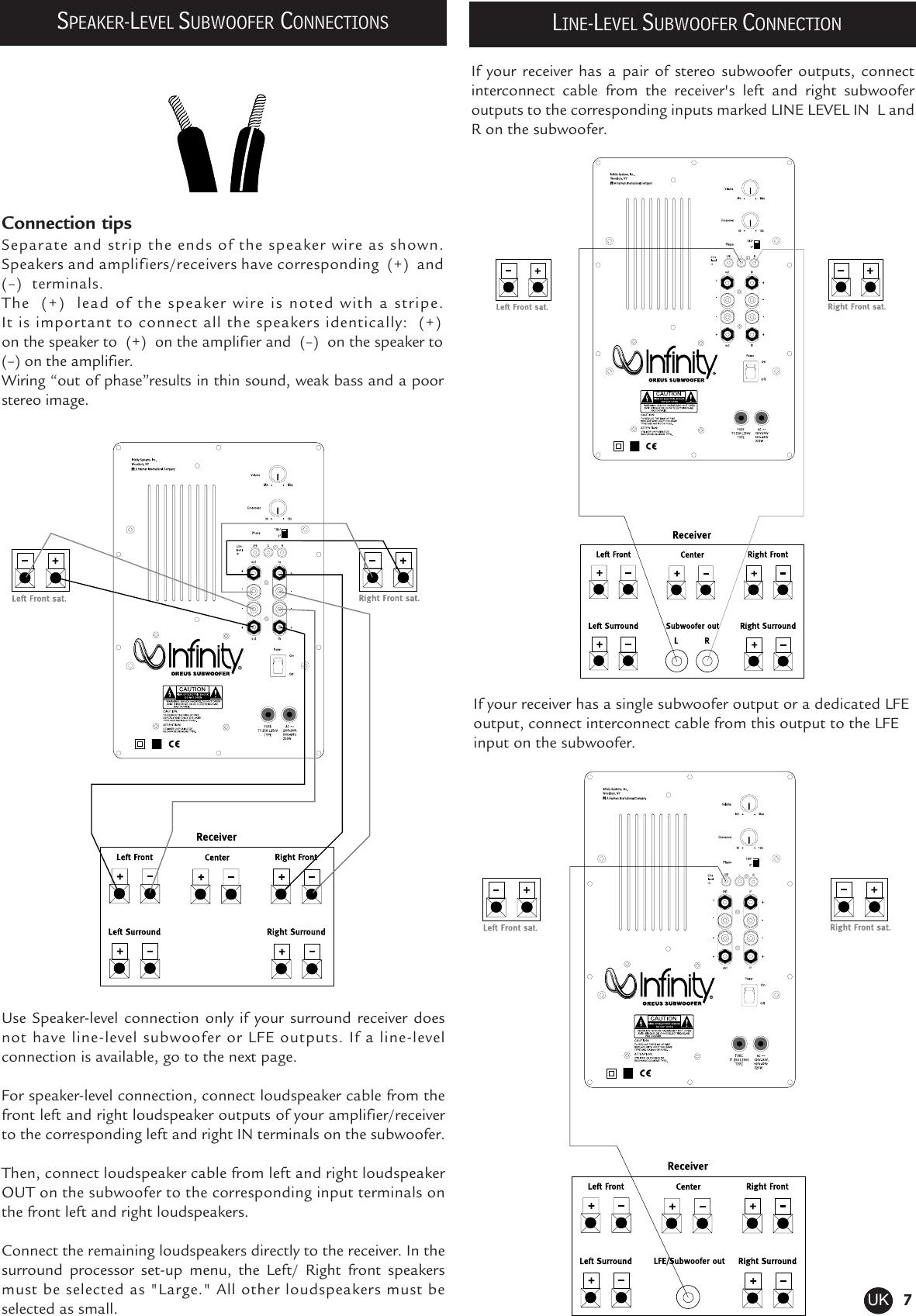 Subwoofer Amplifier Circuit Diagram Hcs Ps 10 Schematic Gain Control Amplifiercircuit Infinity Oreus Users Manual Uk Boston Mcs 95 Page 7 Of