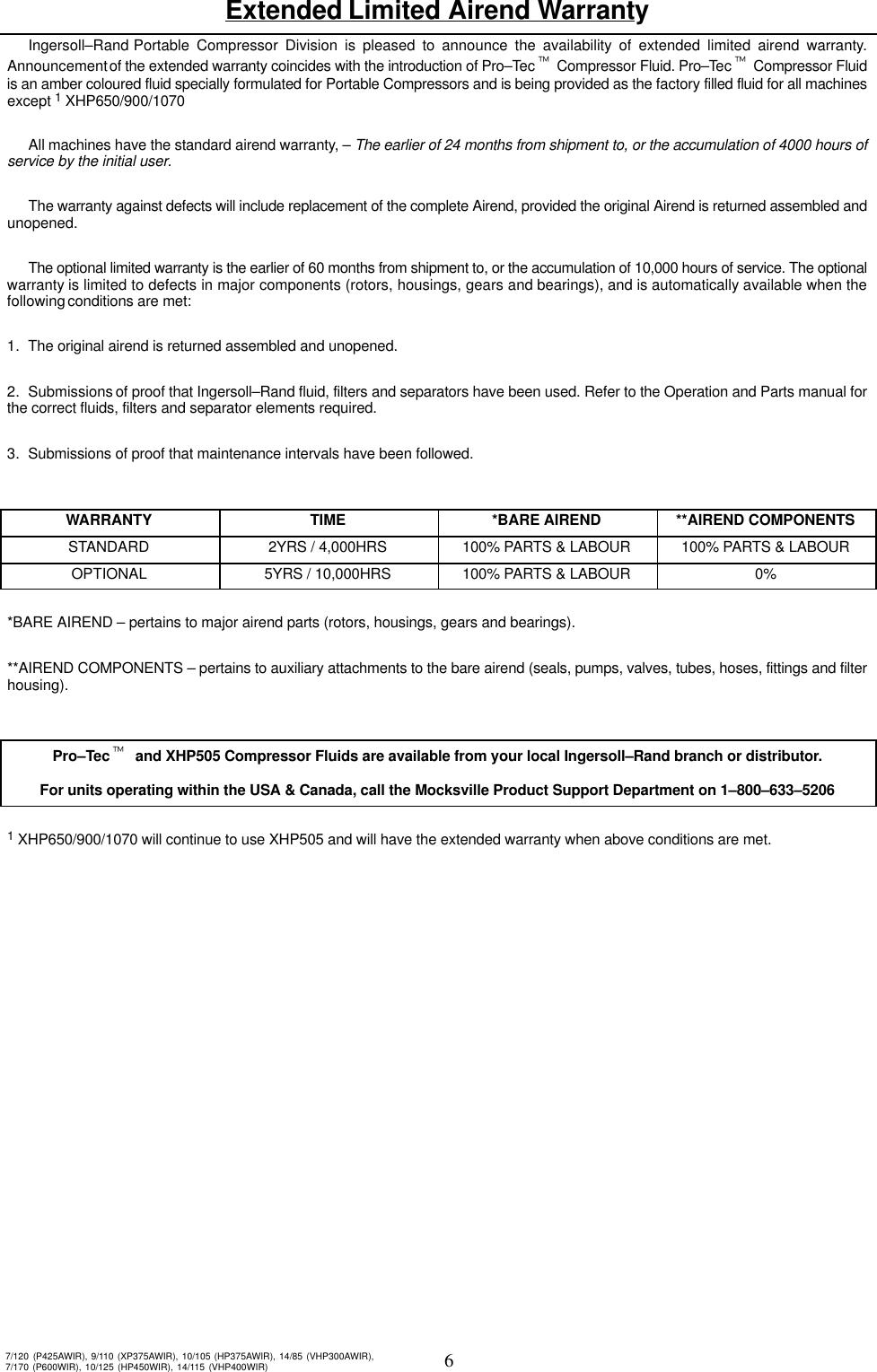 Ingersoll Rand 7120 Users Manual
