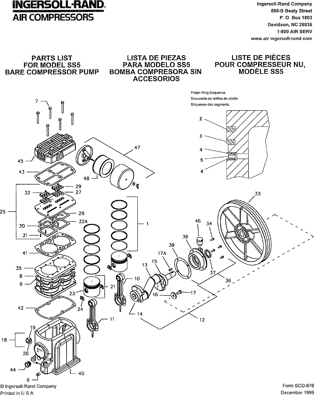 33 Ingersoll Rand Ss3 Parts Diagram