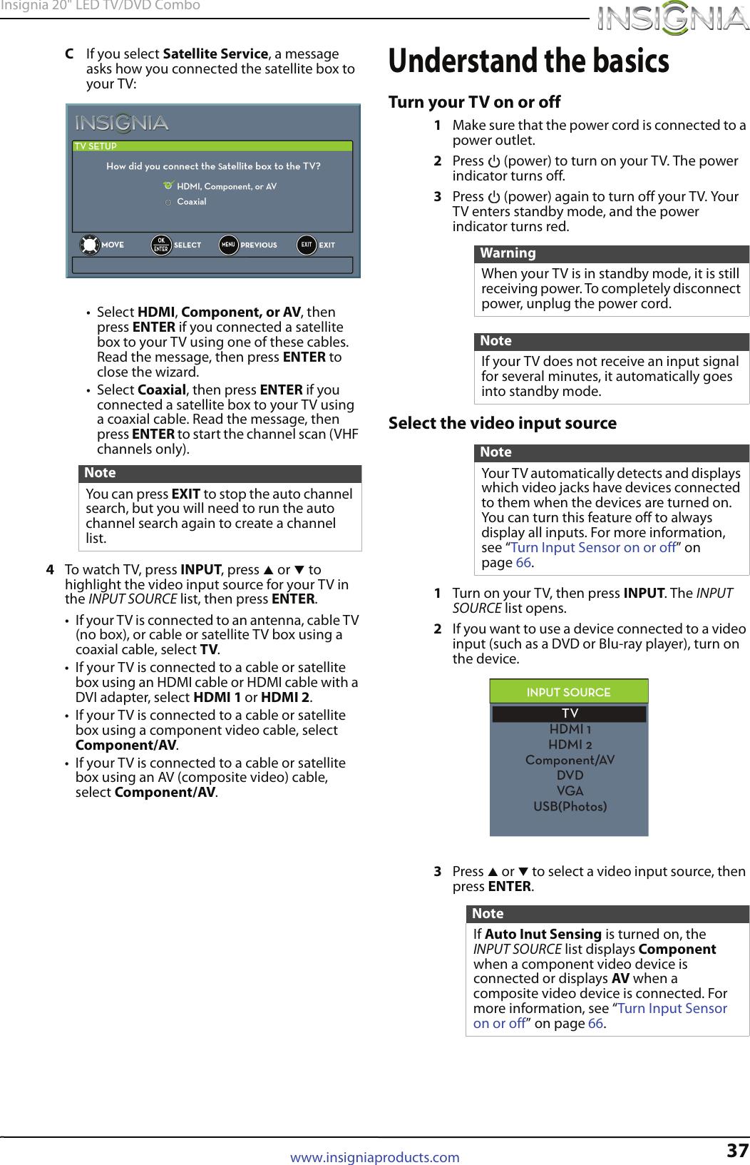Insignia 20Ed310Na15 Users Manual NS 20ED310NA15_13