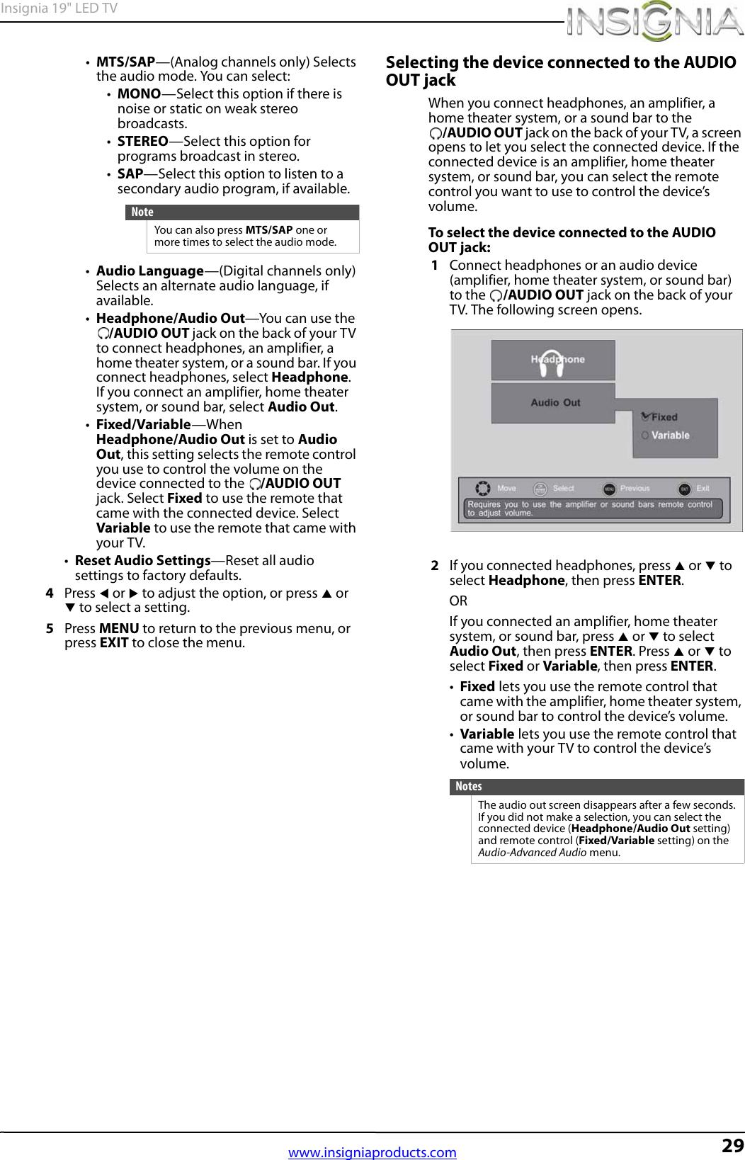 Insignia Ns 19E310A13 Owner S Manual