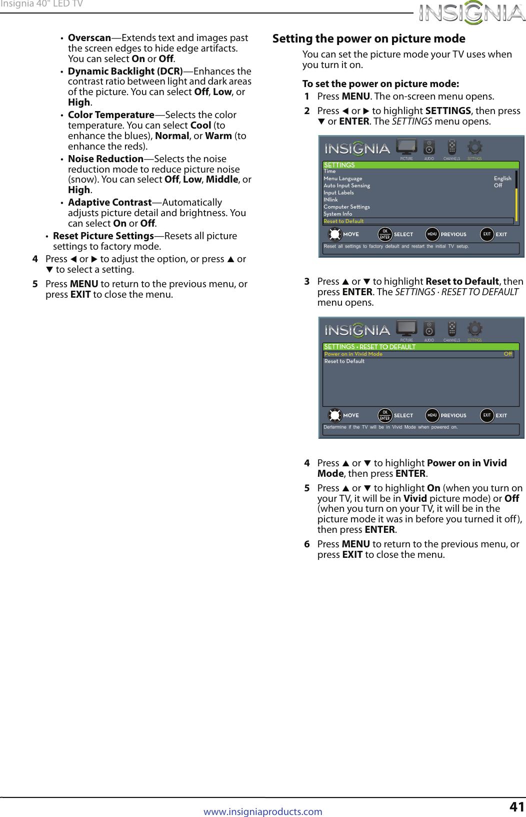 Insignia Ns 40D40Sna14 Owner S Manual 40D40SNA14_13