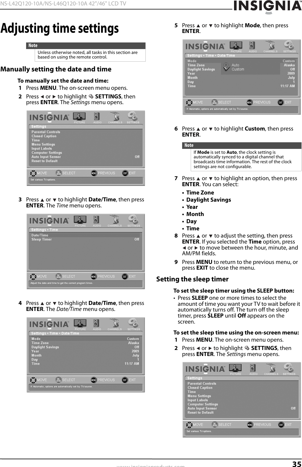 Insignia Ns L42Q120 10A Users Manual