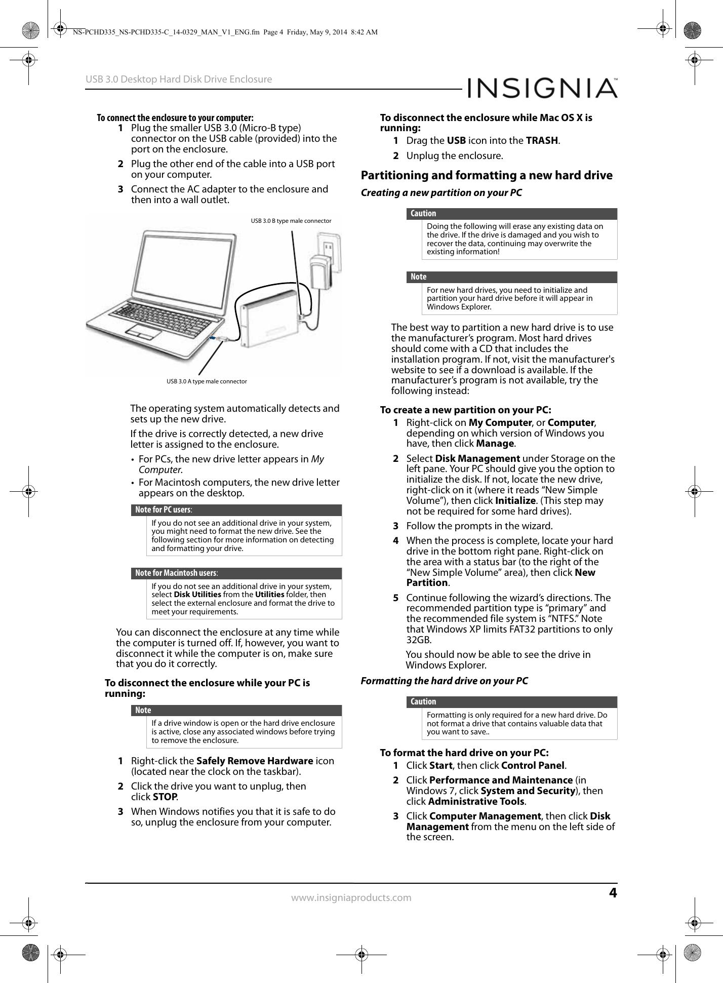 Insignia NS PCHD335NS PCHD335 C C_14 0329_WEB_V1_ENG User