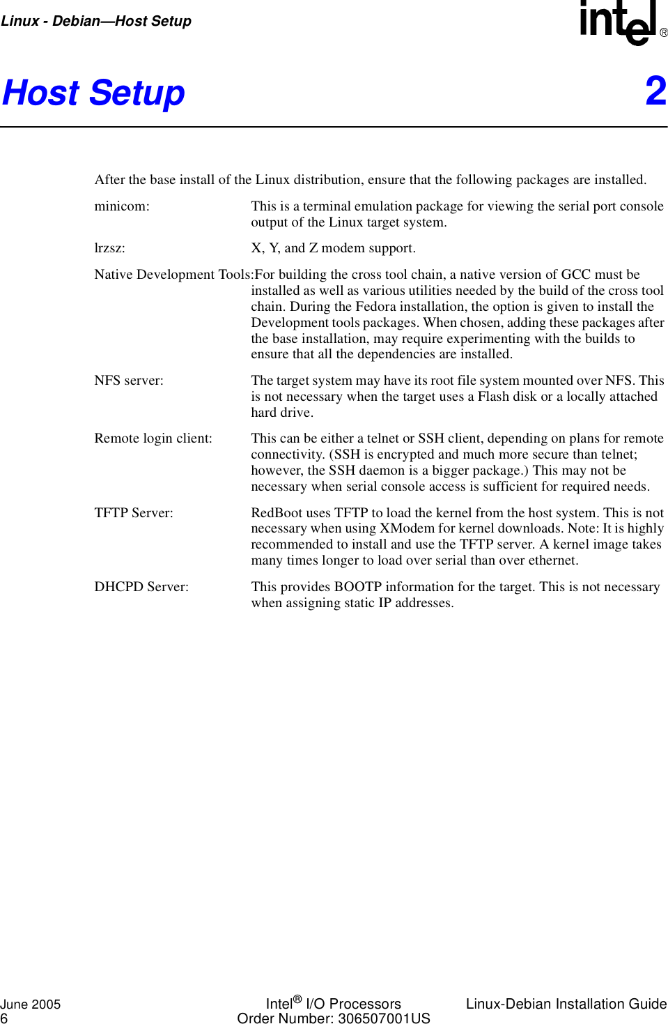 Intel IO Processor DebianLinux User Manual To The 64e4a536