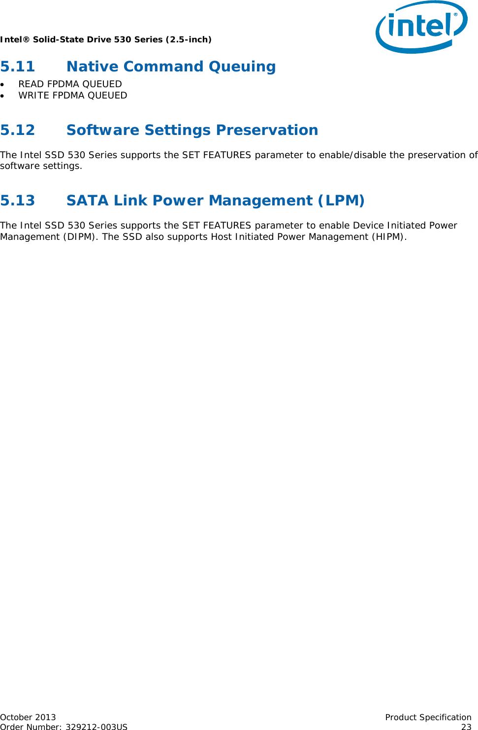 Intel Oem 180Gb 530 2 5In Ssdsc2Bw180A4 Users Manual Intel
