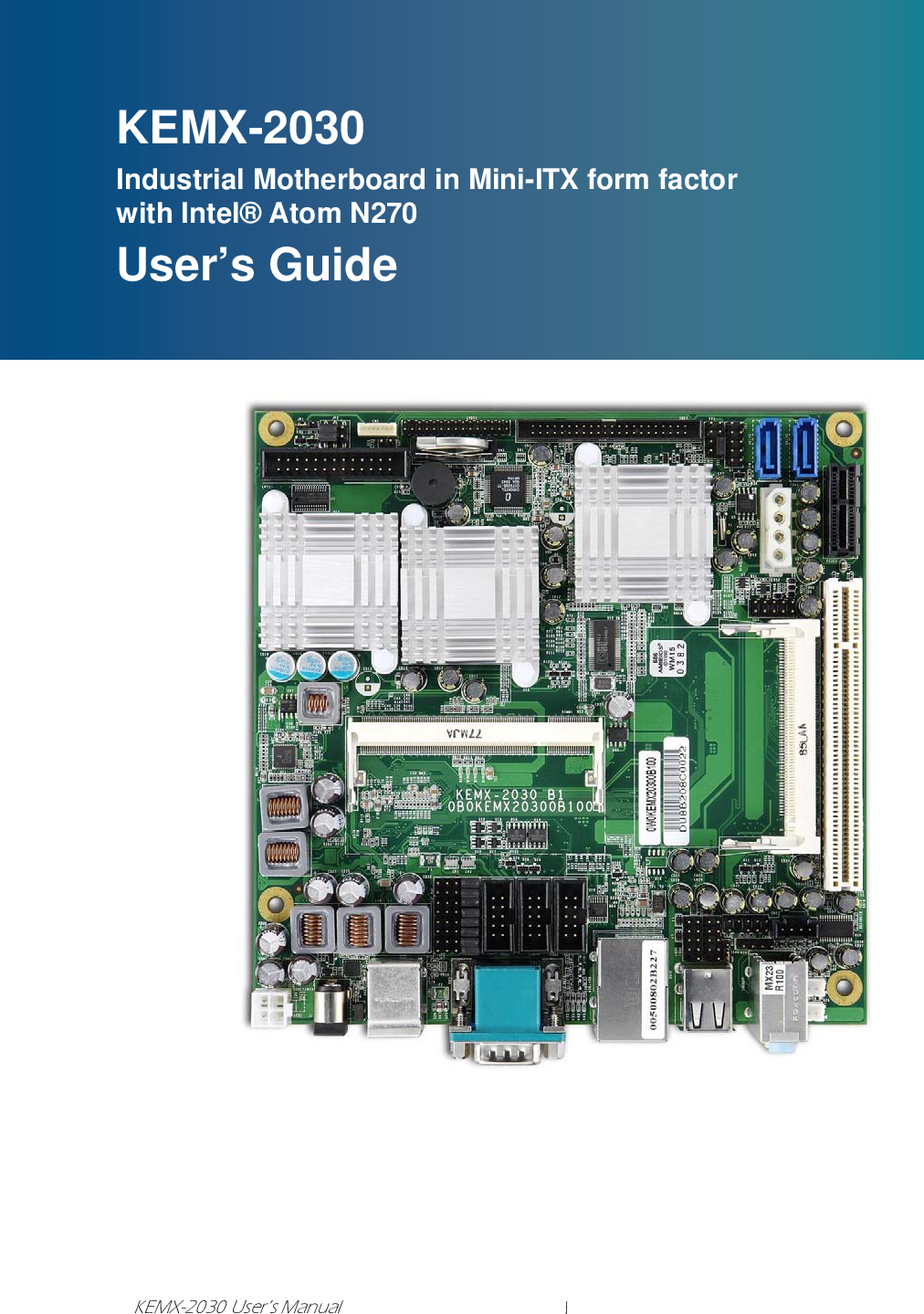 Intel KEMX 2030 Chapter 1 User Manual To The 07fb4094 2616