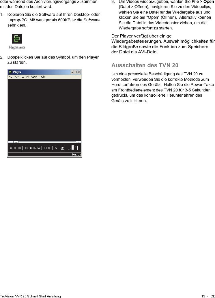 InterLogix 1070713B Truvision Nvr 20 Quick Start Guide En De Es Fr