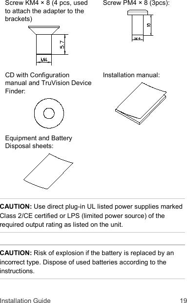 InterLogix 1073188E Truvision Series 3 Ip Camera Installation Guide