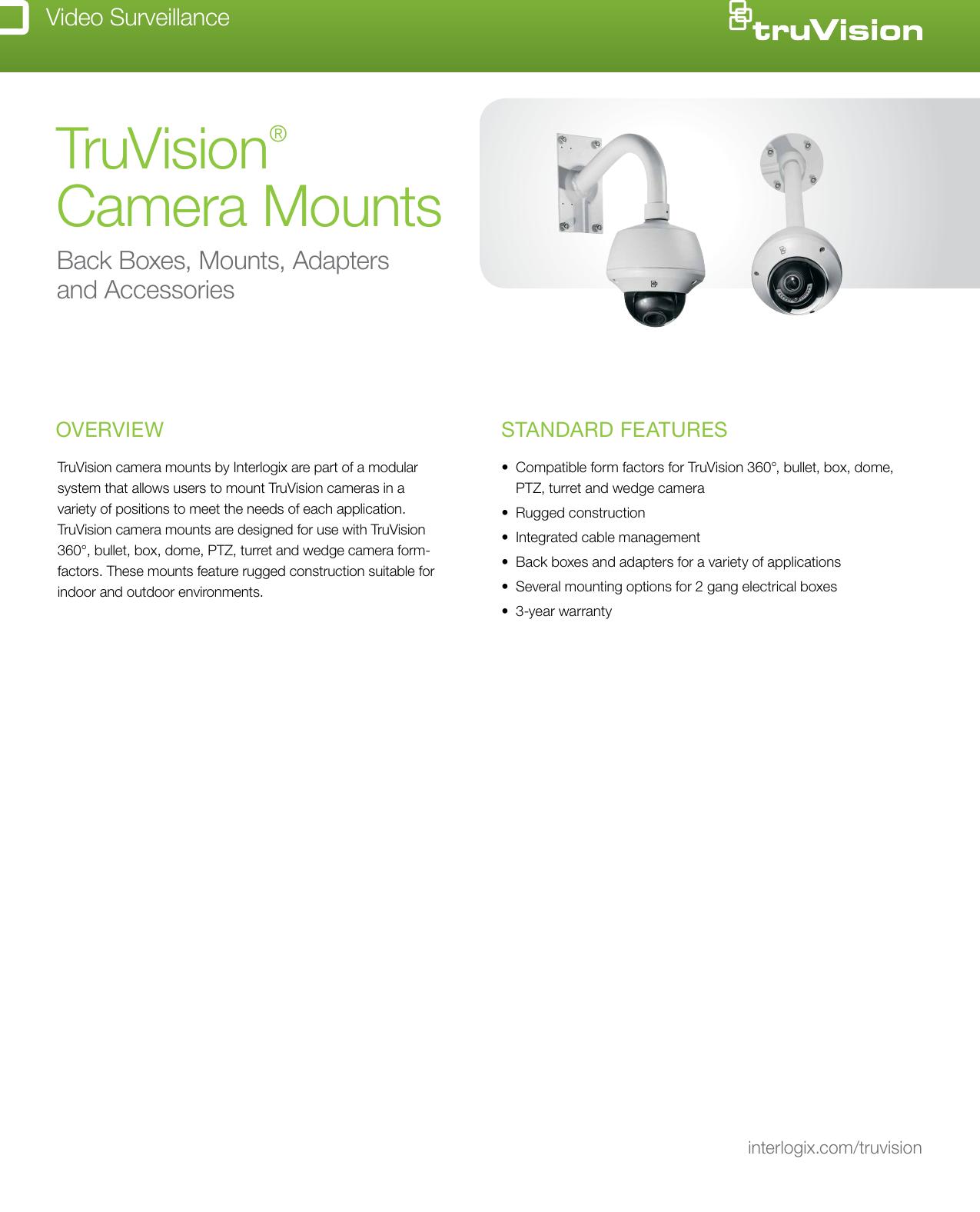 Interlogix TVD-BB3 TruVision Dome Back Box