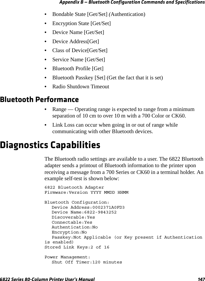 Intermec Technologies BTS080-1 6820 Printer with Bluetooth