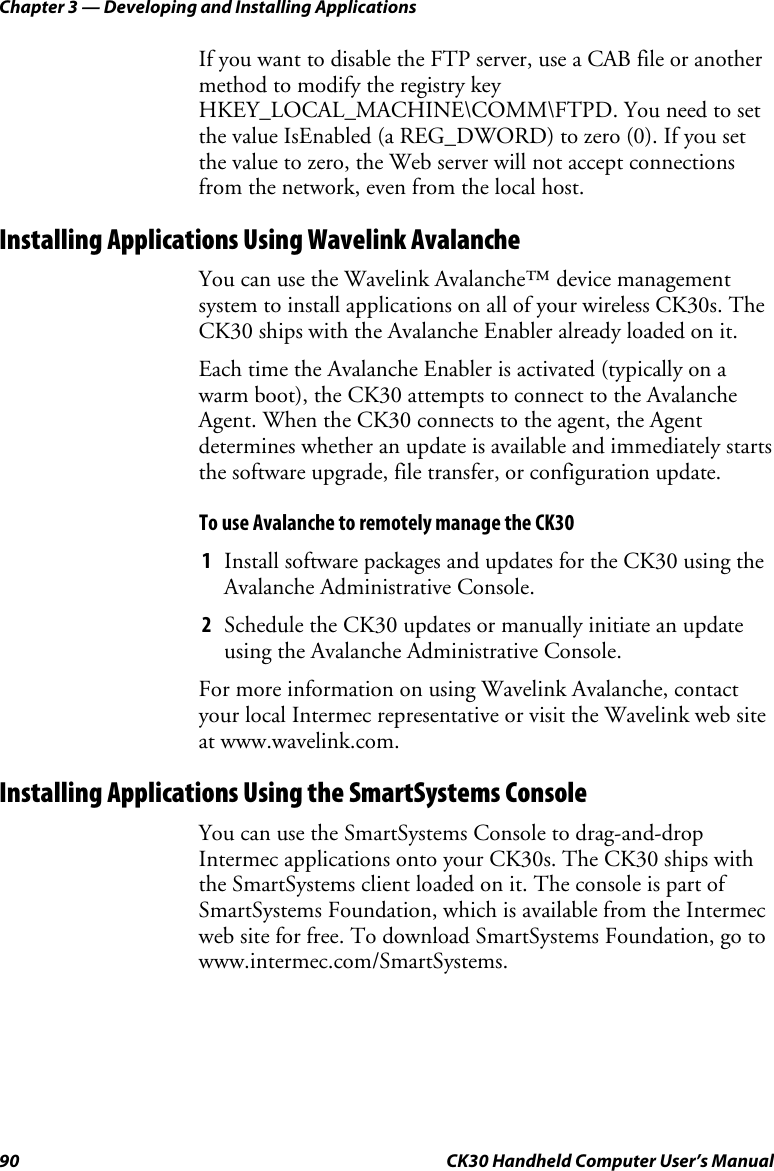 Intermec Ck30 Users Manual CK30umfr