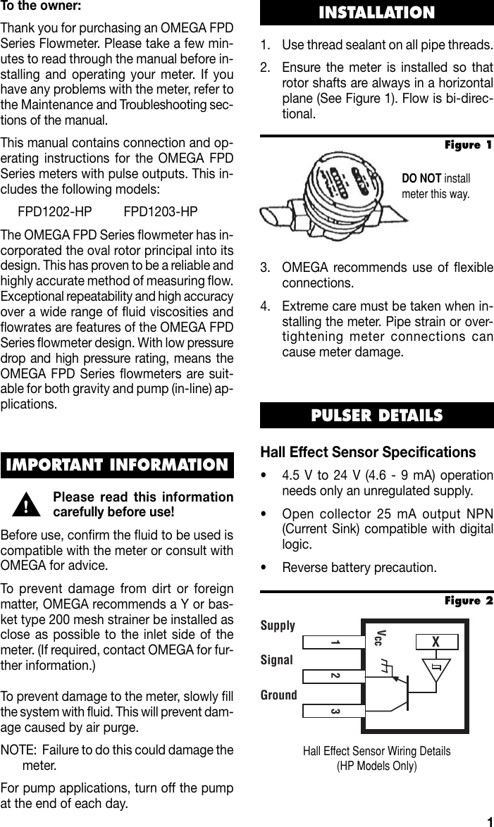 Iomega High Fpd1000 Hp Users Manual Omega M 4125 Hall Effect Sensor Wiring Page 3 Of 12