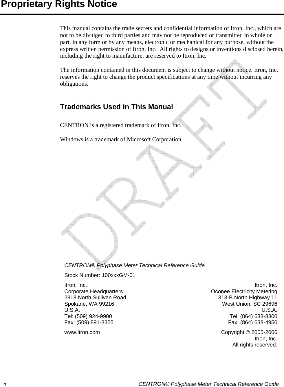 Itron C3A-1H ELECTRICITY METER TRANSMITTER User Manual USERS MANUAL