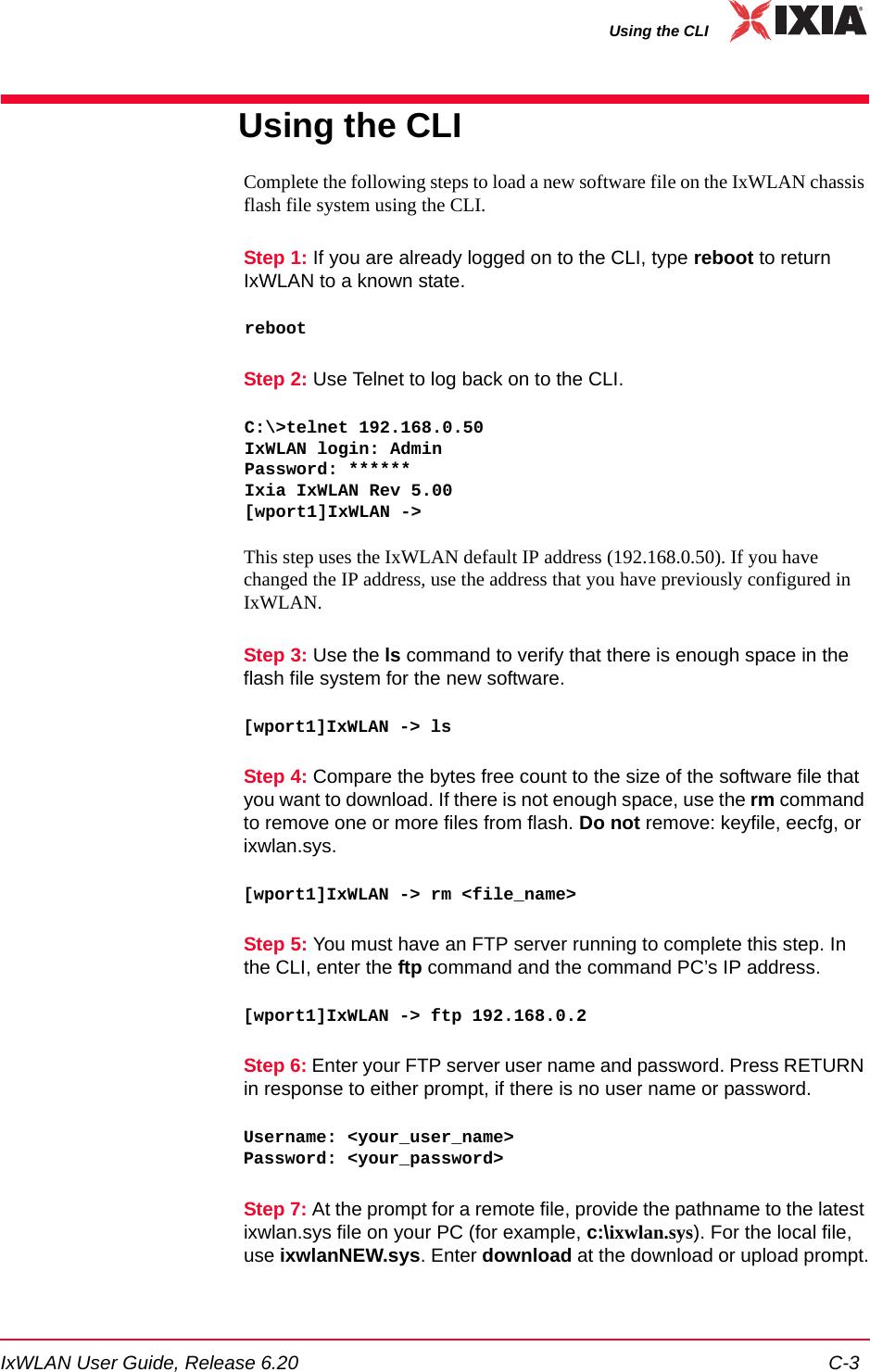 Ixia EE11ABG5 IxWLAN SED User Manual IxWLANUserGuide