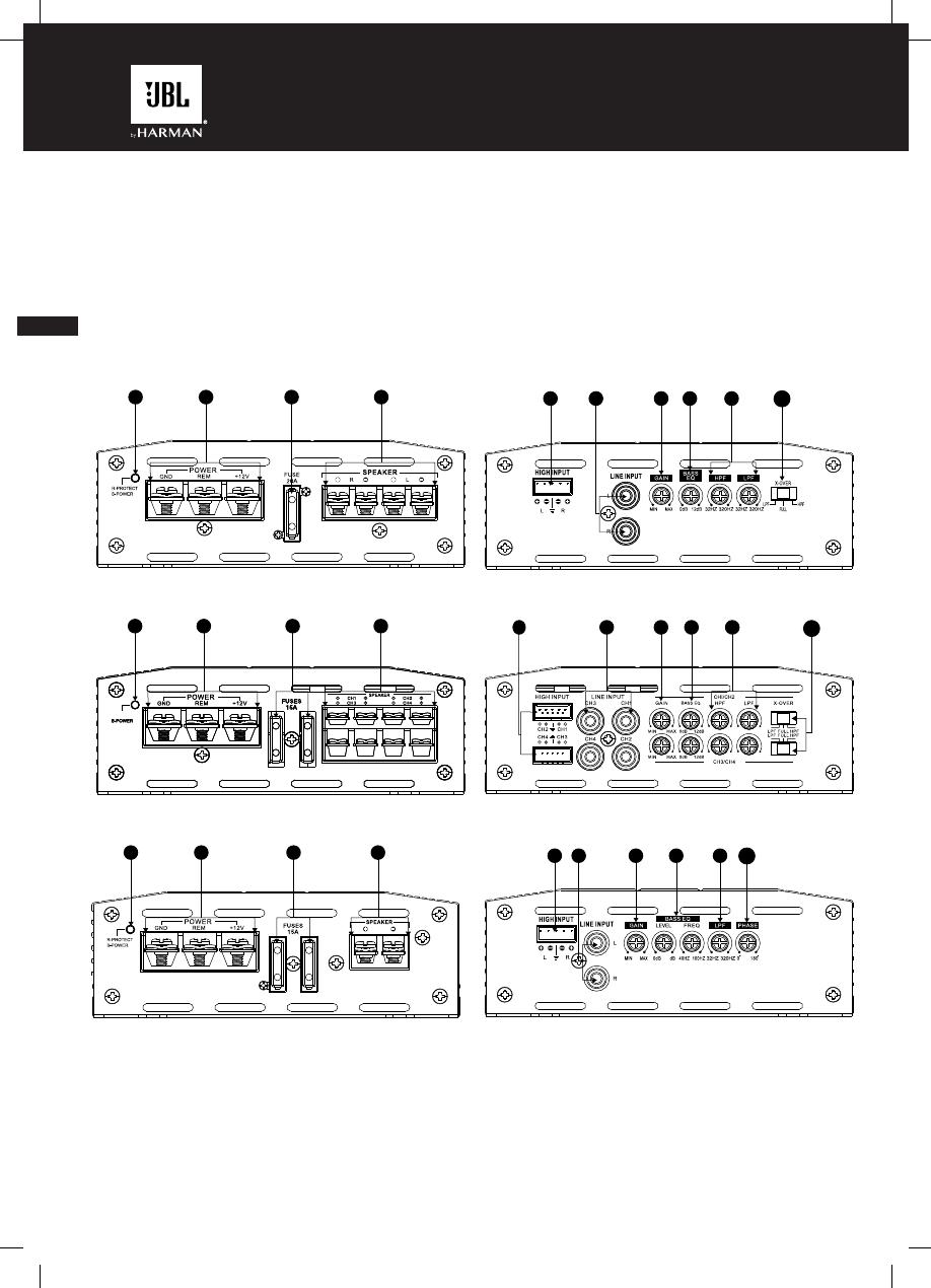 Etapa de Jbl A6002 280 vatios 2 canales Amplificador Subwoofer para Altavoces o