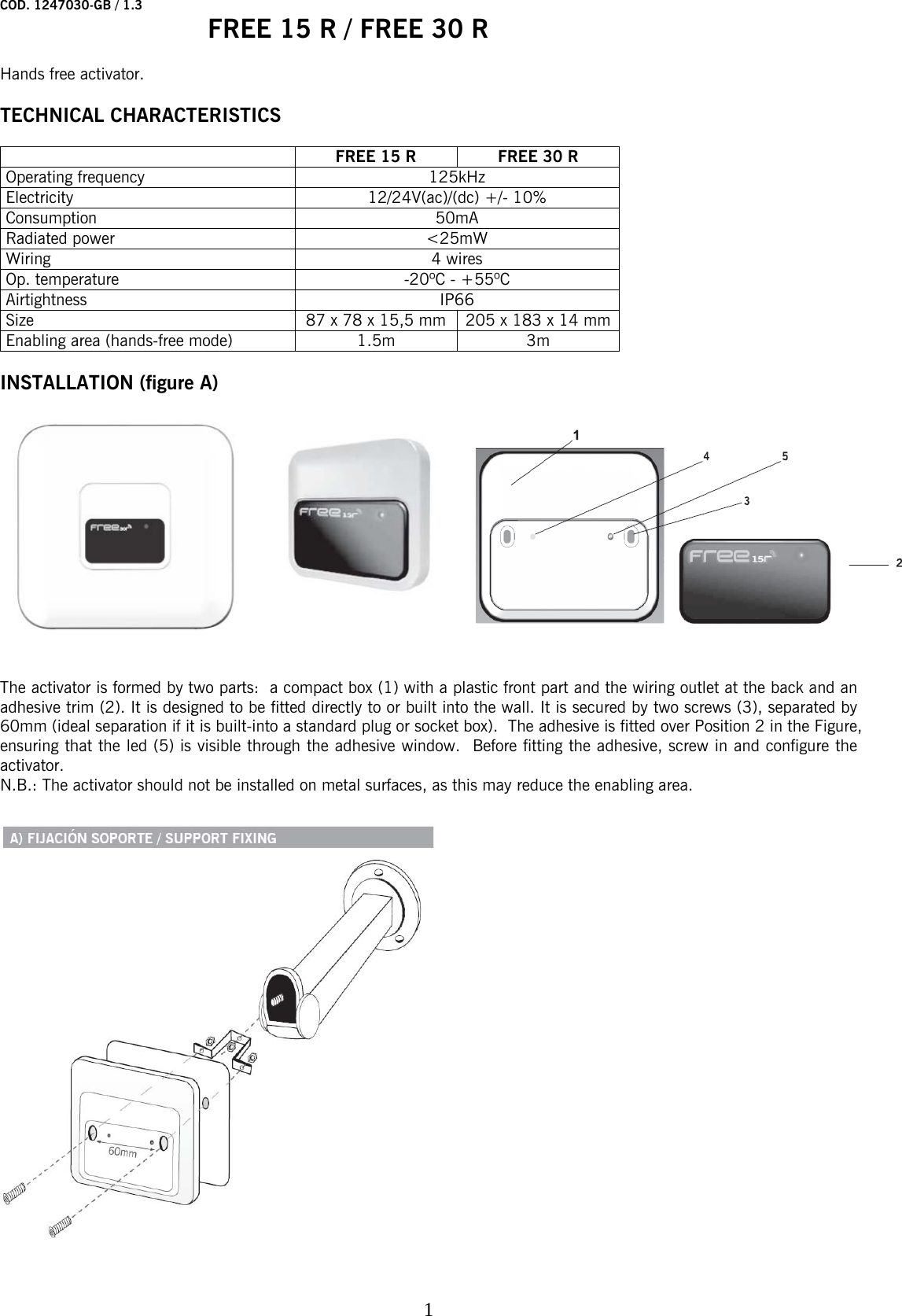 Jcm Technologies Free15r Rfid Reader User Manual 1247030 Free 15 30 Wiring 24v To Ac Dc R 1 3 Gb