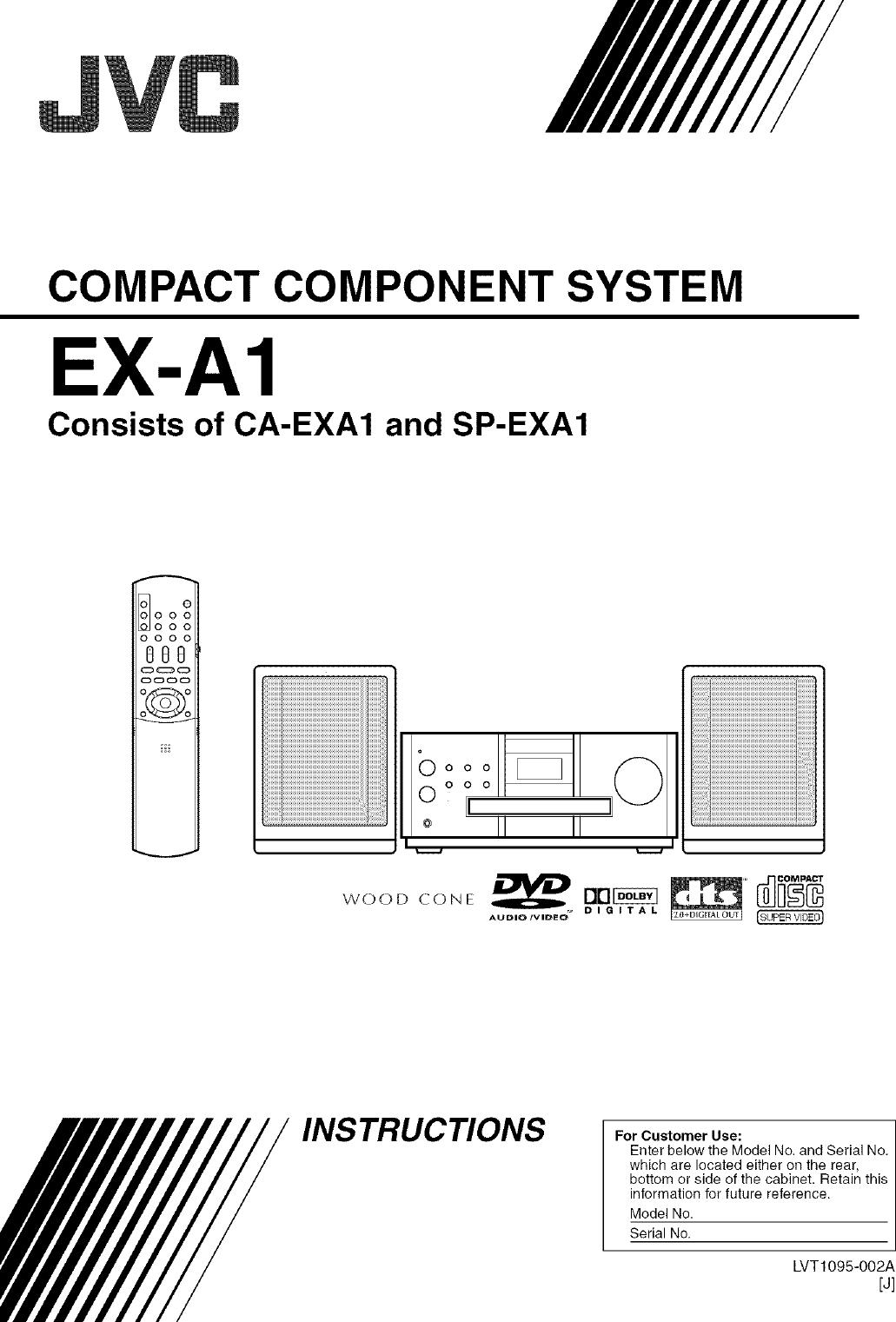 Jvc Ca Exa1 User Manual Receiver Manuals And Guides L0405291