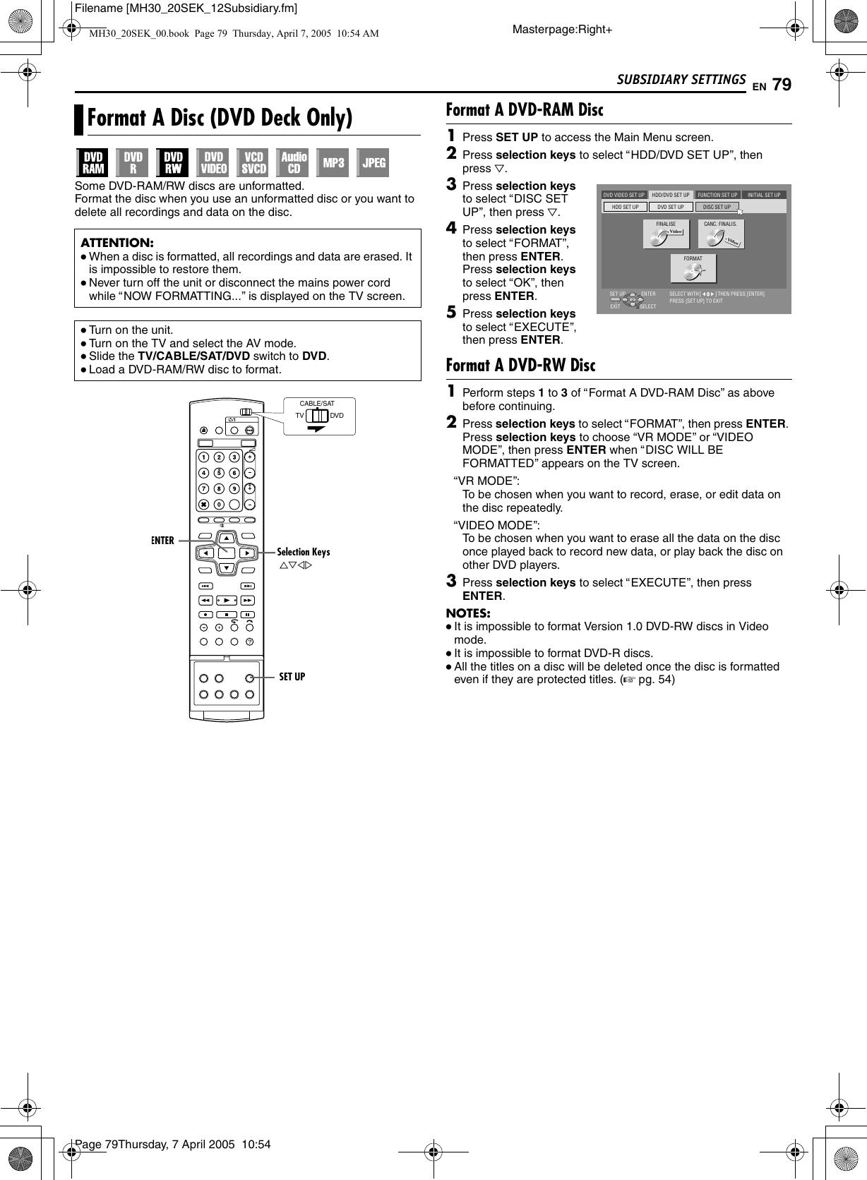 JVC DR MH30SEK User Manual LPT0925 001D