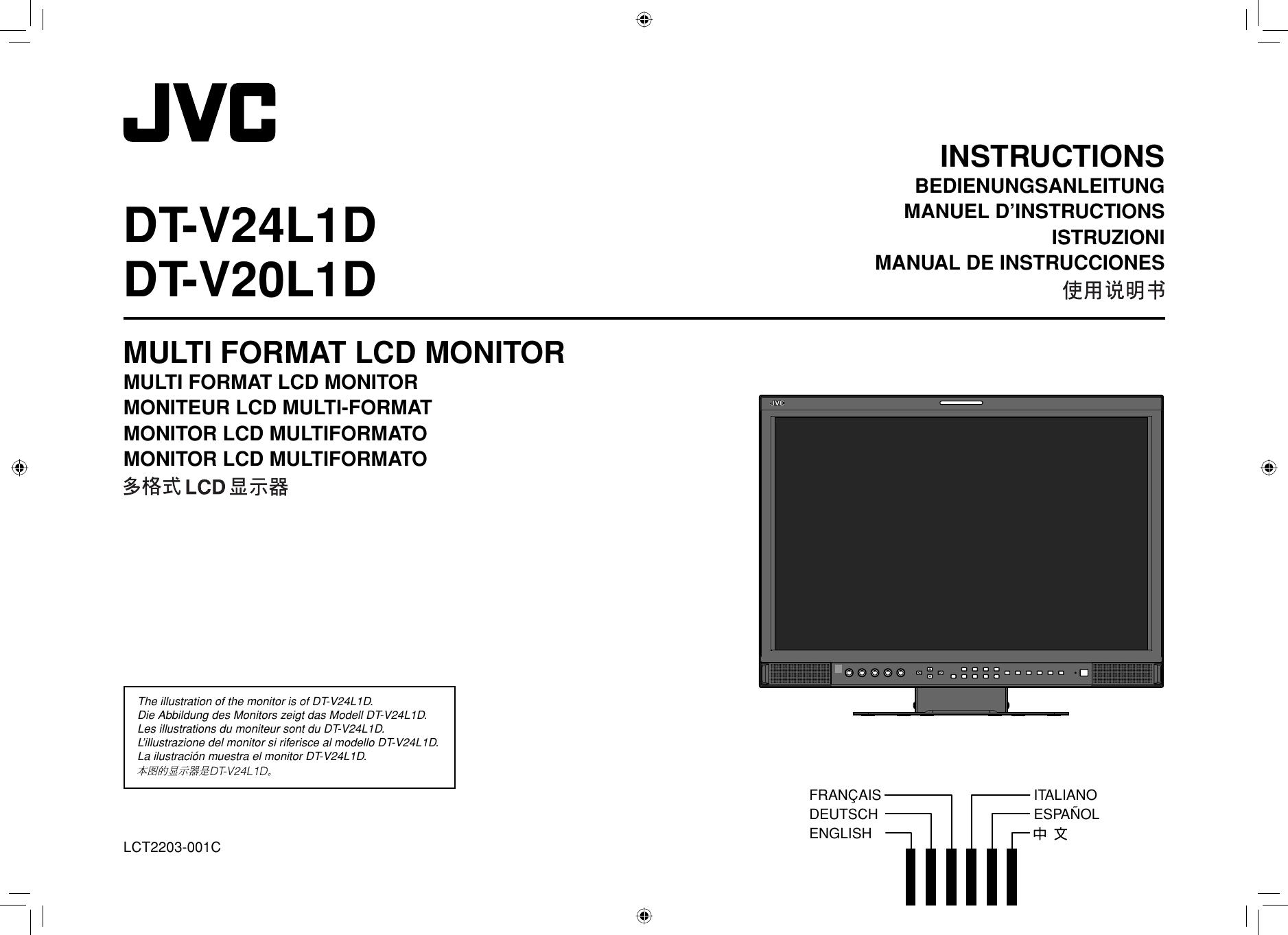 JVC DT V20L1DEA V24L1D/DT V20L1D User Manual V20L1DEA