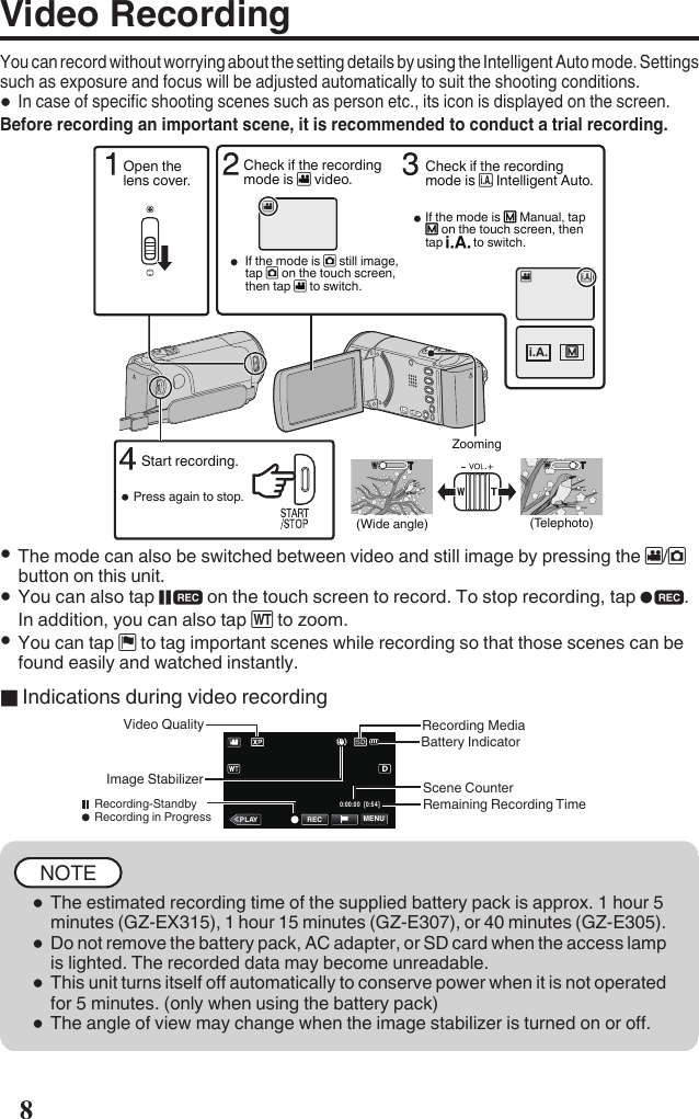 JVC GZ E305AEK User Manual LYT2527 001A M