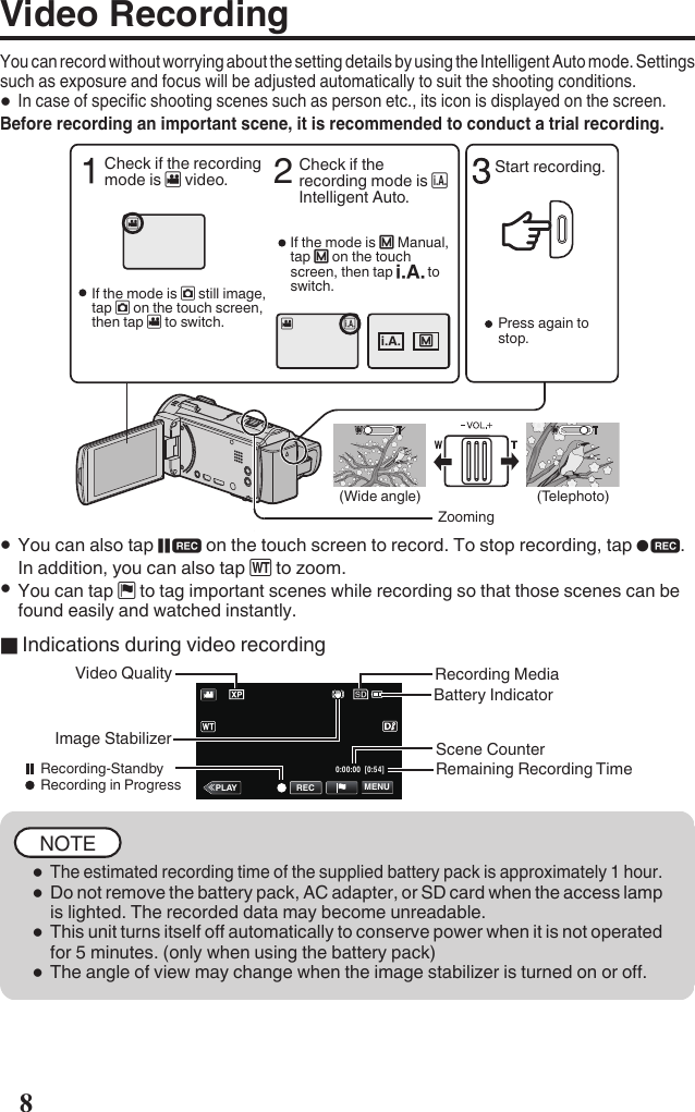 JVC GZ EX515BEK EX515 [EK] User Manual LYT2557 001A M