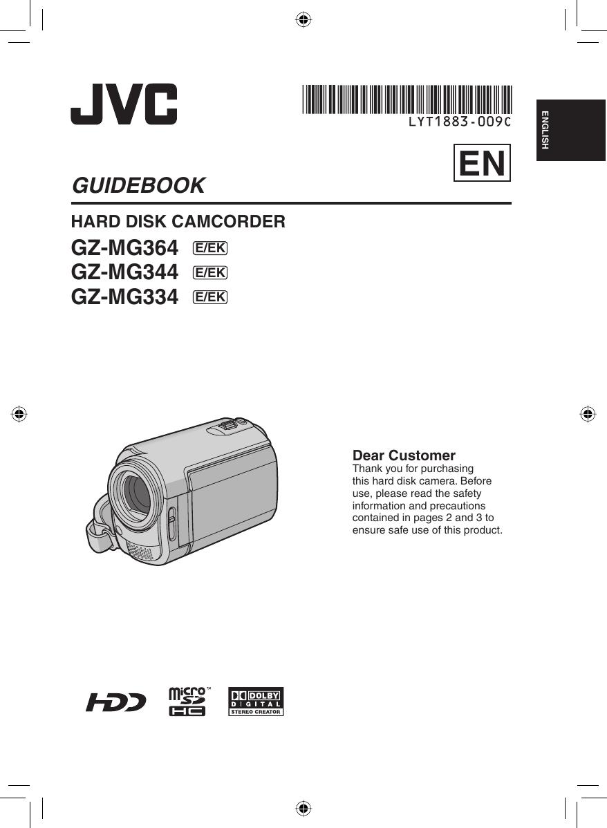 JVC GZ MG334EK M8E3 User Manual MG334EK, MG344EK, MG364EK LYT1883 009C