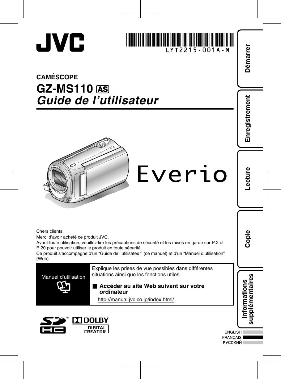 Jvc Gz Ms110bas Ms110 User Manual Lyt2215 001a M