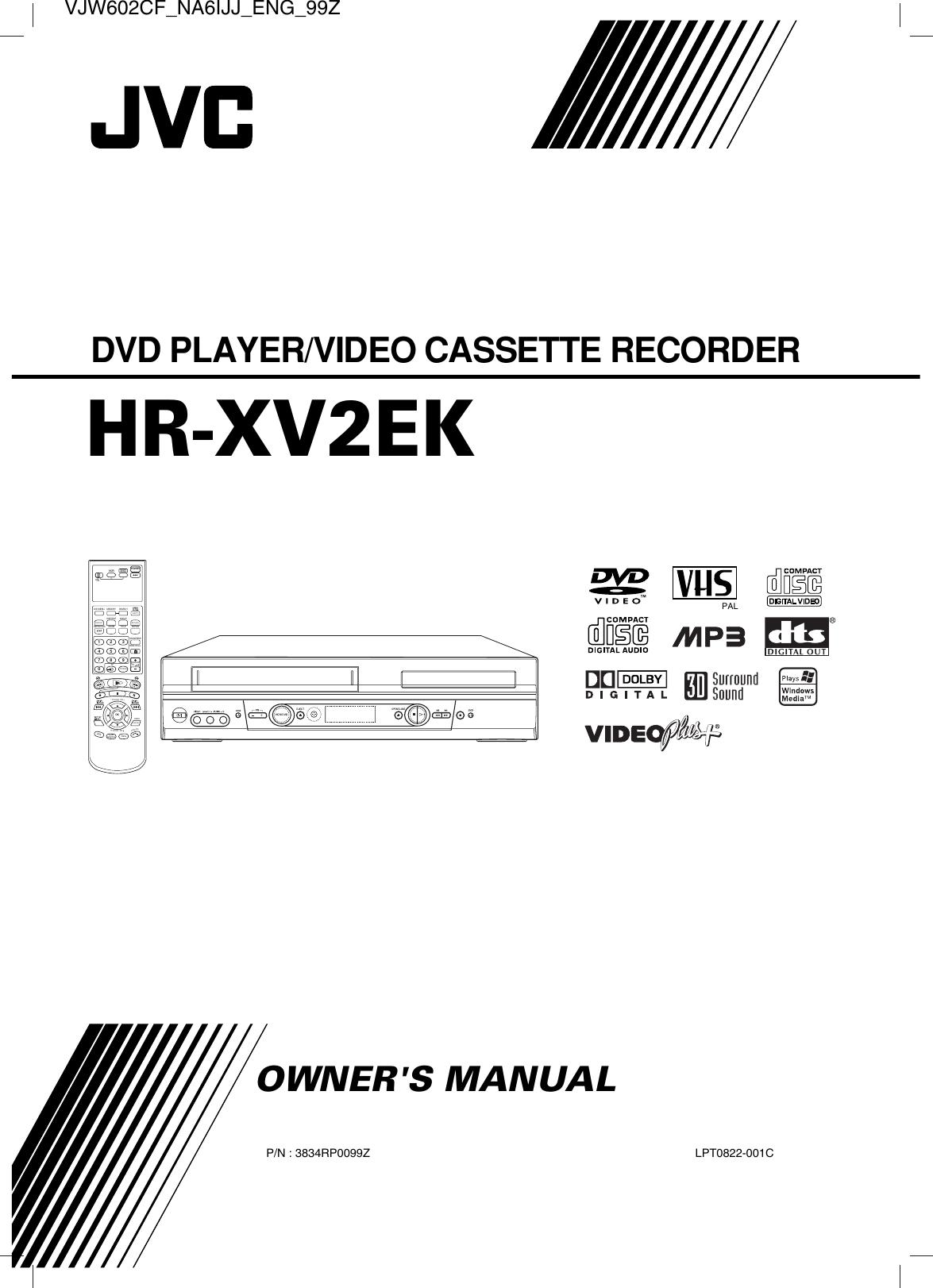JVC HR XV2EK VJW602CF_NA6IJJ_ENG_93F User Manual LPT0822 001C