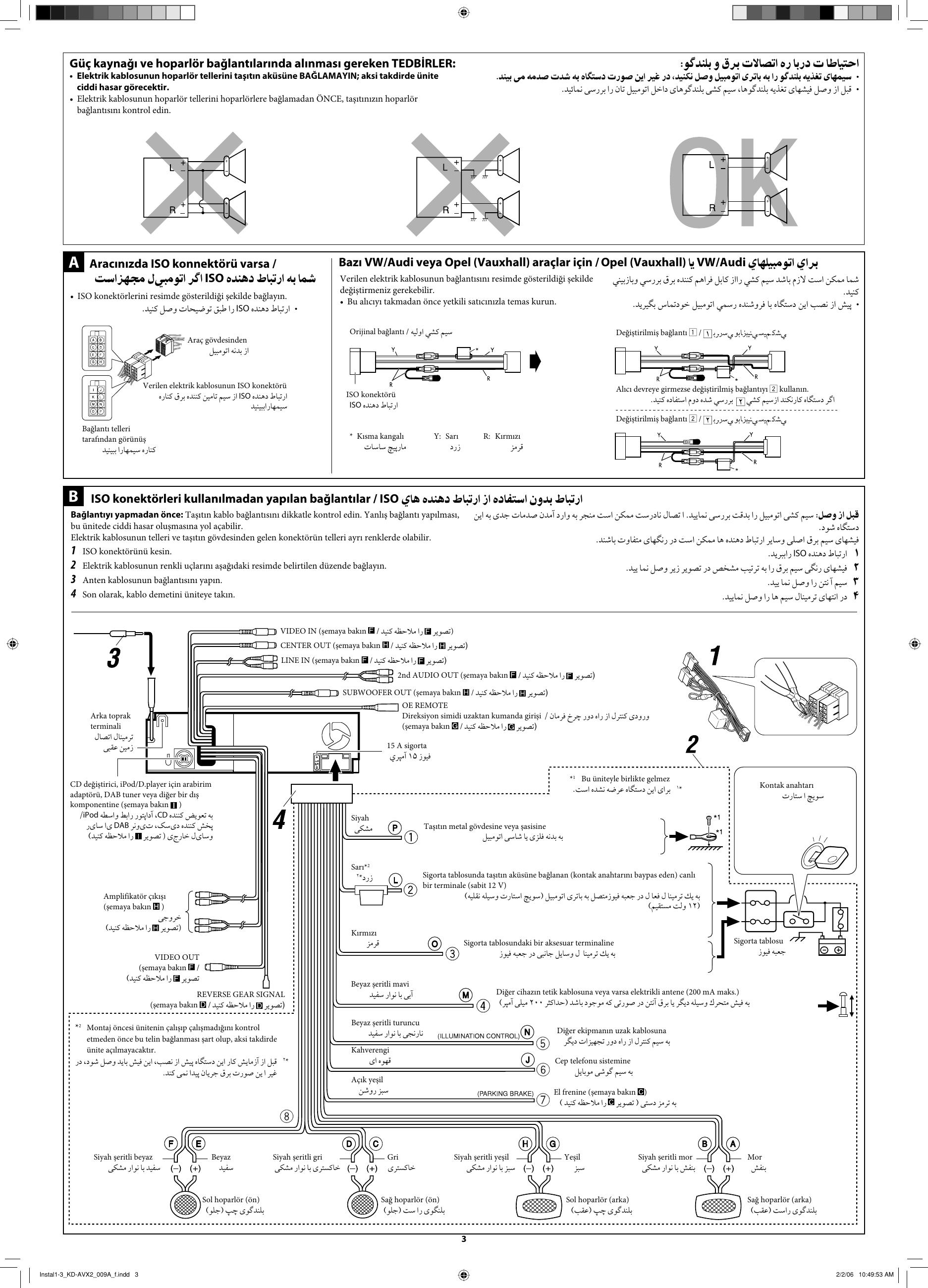 Jvc Kd Avx2 Wiring Diagram from usermanual.wiki