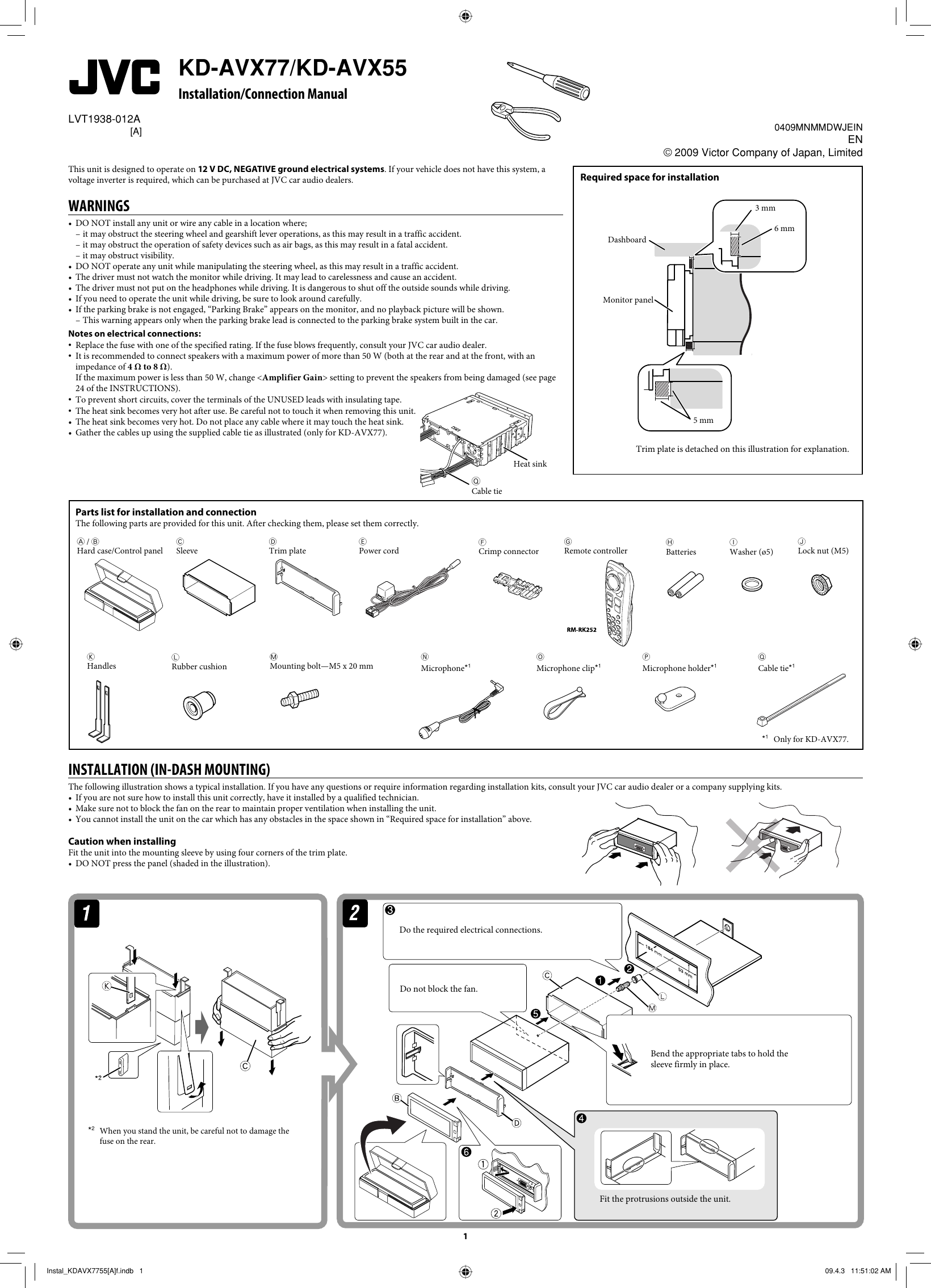 [DIAGRAM_3US]  JVC KD AVX55A AVX77/KD AVX55 User Manual AVX55A, AVX77A LVT1938 012A | Jvc Kd Avx77 Wiring Diagram |  | UserManual.wiki