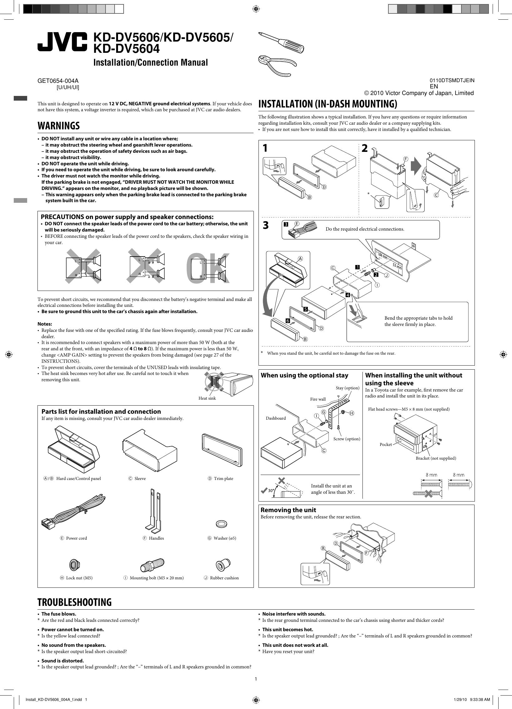 Jvc Kd Dv5605uh Install Kd Dv5606 004a F User Manual Dv5605uh Dv5606uh Get0654 004a