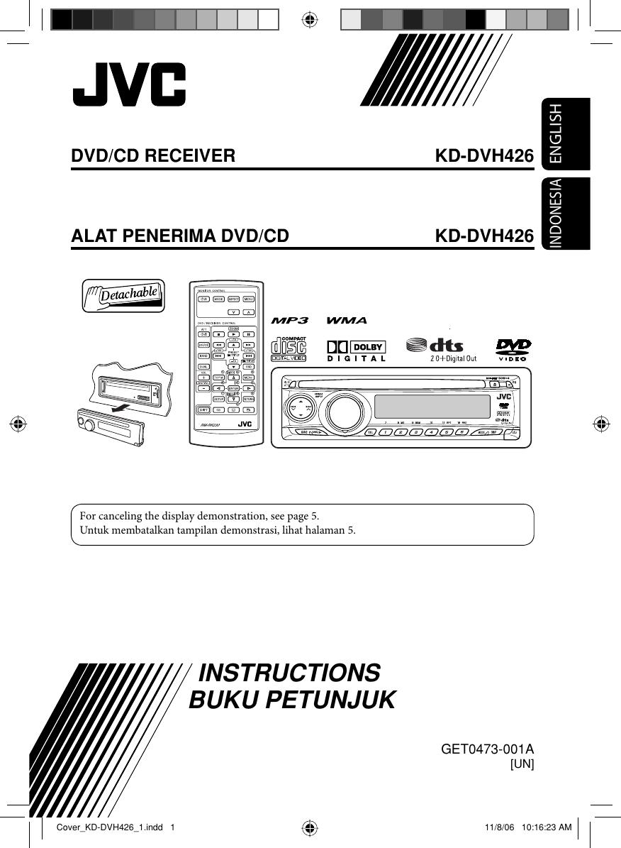 Jvc Kd Dvh426un Cover Dvh426 1 User Manual Get0473 001a Cara Wiring Lampu Rumah