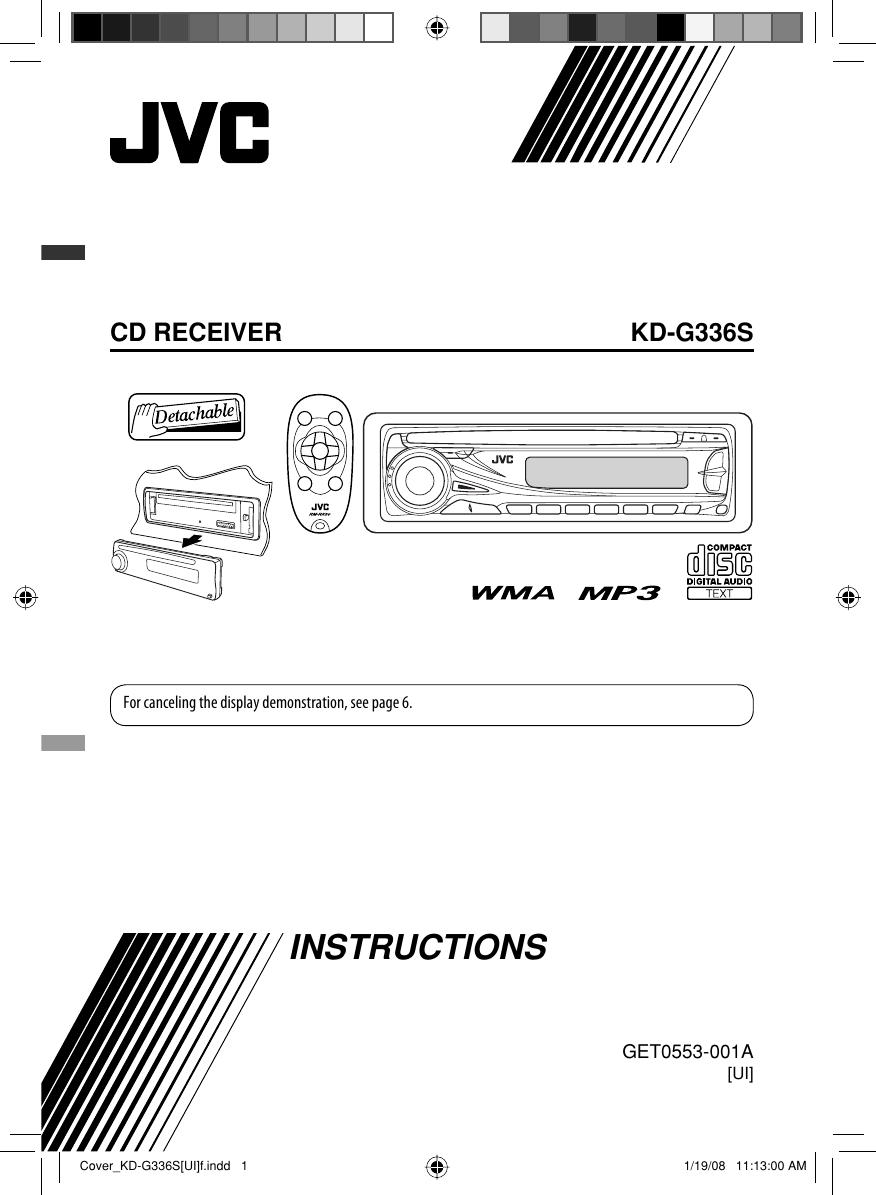 JVC KD G336SUI Cover_KD G336S[UI]f User Manual GET0553 001A